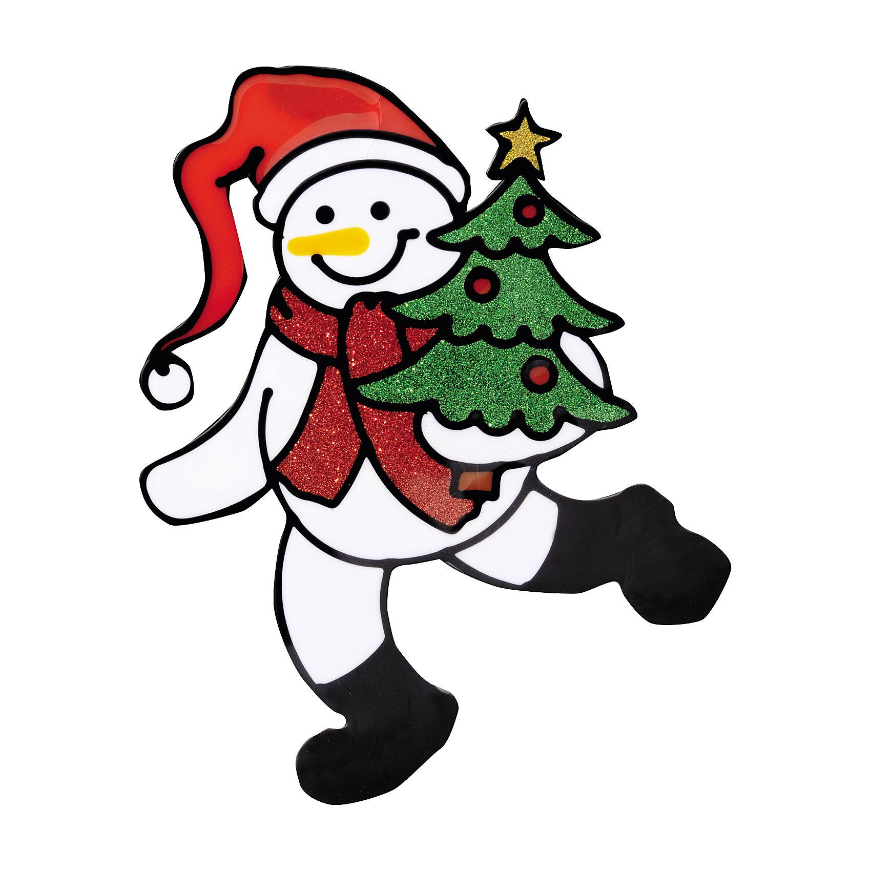 Наклейка на окно Снеговик с ёлочкой 15*19,5 смНаклейка на окно Снеговик с ёлочкой 15*19,5 см с блестками принесет в Ваш дом волшебство и красоту новогоднего праздника, превратив окно в сказочный витраж! Сувенир также послужит отличным мини-презентом близким или друзьям.<br><br>Дополнительная информация:<br>-Материалы: силикон<br>-Размер в упаковке: 15х0,5х19,5 см<br>-Вес в упаковке: 31 г<br>-Размер: 15х19,5 см<br><br>Наклейка на окно Снеговик с ёлочкой 15*19,5 см<br><br>Ширина мм: 150<br>Глубина мм: 5<br>Высота мм: 195<br>Вес г: 31<br>Возраст от месяцев: 84<br>Возраст до месяцев: 2147483647<br>Пол: Унисекс<br>Возраст: Детский<br>SKU: 4286717