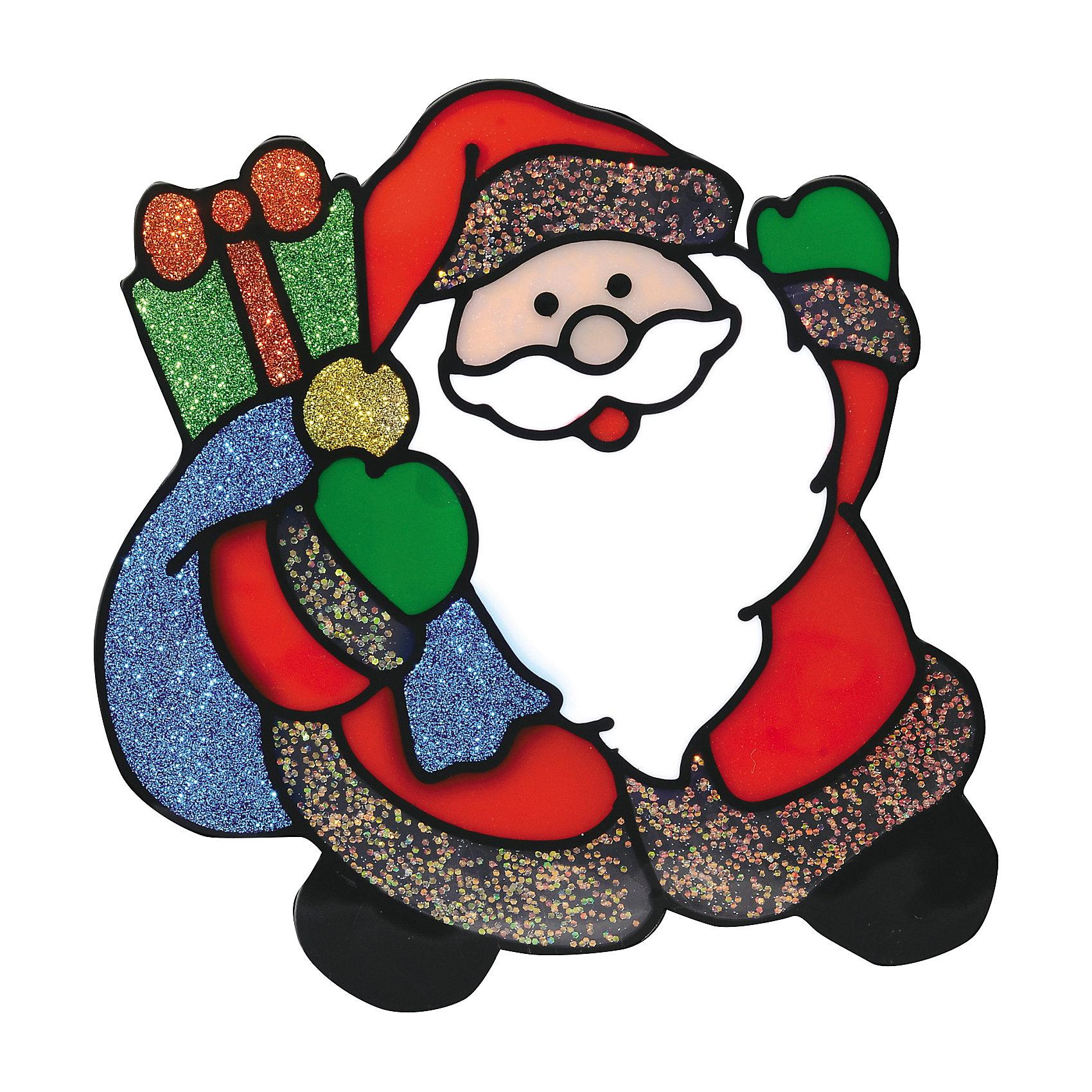 Наклейка на окно Дедушка с подарками 14,5*15,5 смНовинки Новый Год<br>Блестящая Наклейка на окно Дедушка с подарками 14,5*15,5 см с изображением веселого Деда Мороза с подарками поможет вдохнуть атмосферу новогодних праздников в Ваш дом! А с помощью нескольких наклеек на новогоднюю тематику можно составлять на стекле целые зимние картины, которые будут радовать глаз и поднимать настроение!<br><br>Дополнительная информация:<br>-Материалы: силикон, блестки<br>-Размер в упаковке: 14,5х0,5х15,5 см<br>-Вес в упаковке: 27 г<br>-Размер: 14,5х15,5 см<br><br>Наклейка на окно Дедушка с подарками 14,5*15,5 см можно купить в нашем магазине.<br><br>Ширина мм: 145<br>Глубина мм: 5<br>Высота мм: 155<br>Вес г: 27<br>Возраст от месяцев: 84<br>Возраст до месяцев: 2147483647<br>Пол: Унисекс<br>Возраст: Детский<br>SKU: 4286718
