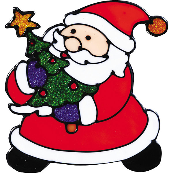 Наклейка на окно Дедушка Мороз 14,5*16 смНовогодние наклейки на окна<br>Наклейка на окно Дедушка Мороз 14,5*16 см с изображением самого ожидаемого гостя в доме – Деда Мороза и нарядной елочки, принесет в Ваш дом волшебство и красоту новогоднего праздника, превратив окно в сказочный витраж! Сувенир также послужит отличным мини-презентом близким или друзьям к наступающему празднику.<br><br>Дополнительная информация:<br>-Материалы: силикон, блестки<br>-Размер в упаковке: 14,5х0,5х16 см<br>-Вес в упаковке: 27 г<br>-Размер: 14,5х16 см<br><br>Наклейка на окно Дедушка Мороз 14,5*16 см можно купить в нашем магазине.<br>Ширина мм: 145; Глубина мм: 5; Высота мм: 160; Вес г: 27; Возраст от месяцев: 84; Возраст до месяцев: 2147483647; Пол: Унисекс; Возраст: Детский; SKU: 4286720;