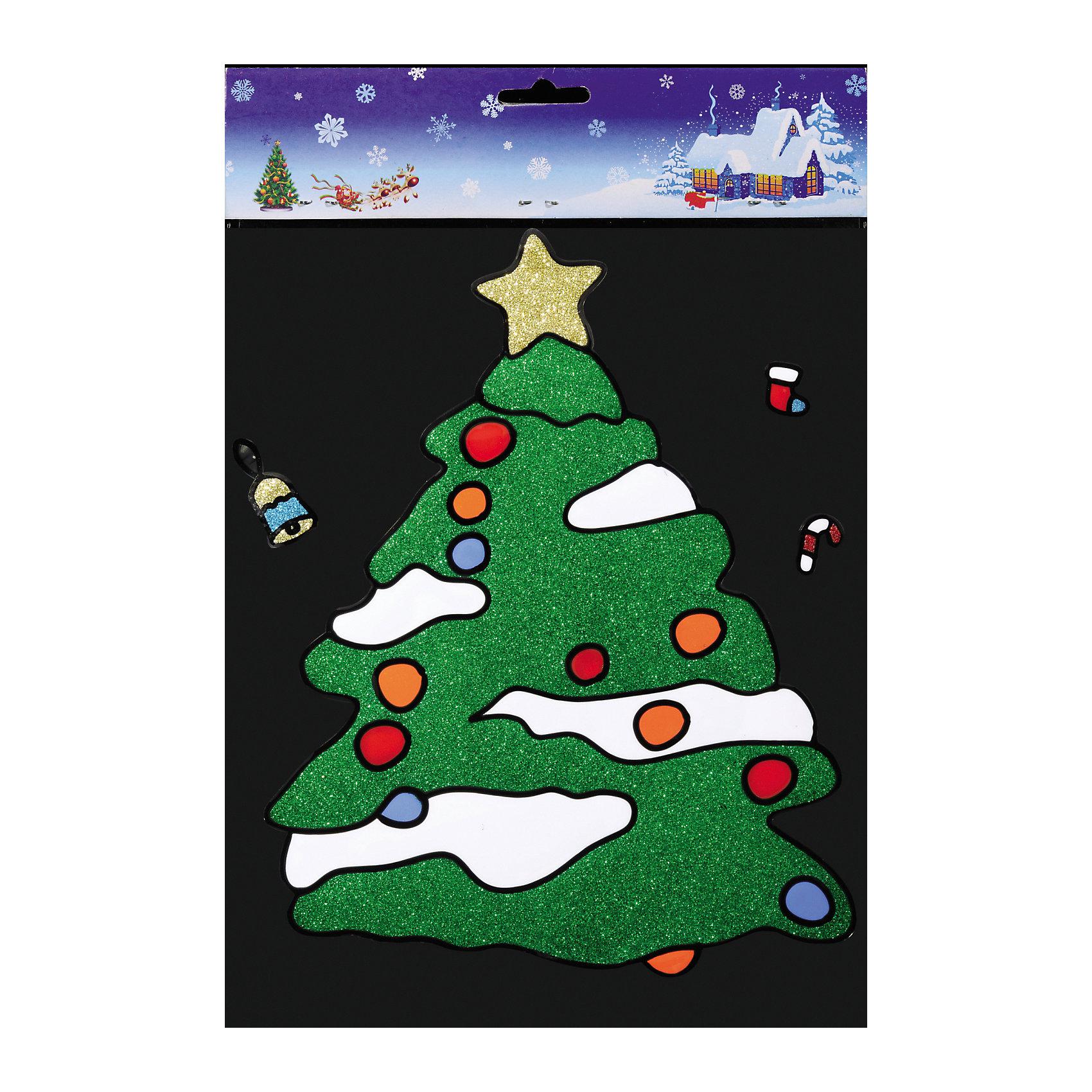 Наклейка на окно Заснеженная ёлочка 25*37 смС помощью большой витражной Наклейки на окно Заснеженная ёлочка 25*37 см и других новогодних аксессуаров можно составлять на стекле целые зимние сюжеты, которые будут радовать глаз и поднимать настроение в праздничные дни! Также Вы можете преподнести этот сувенир в качестве мини-презента коллегам, близким и друзьям с пожеланиями счастливого Нового Года!<br><br>Дополнительная информация:<br>-Материалы: силикон, блестки<br>-Размер в упаковке: 25х0,5х37 см<br>-Вес в упаковке: 92 г<br>-Размер: 25х37 см<br><br>Наклейка на окно Заснеженная ёлочка 25*37 см можно купить в нашем магазине.<br><br>Ширина мм: 250<br>Глубина мм: 5<br>Высота мм: 370<br>Вес г: 92<br>Возраст от месяцев: 84<br>Возраст до месяцев: 2147483647<br>Пол: Унисекс<br>Возраст: Детский<br>SKU: 4286722