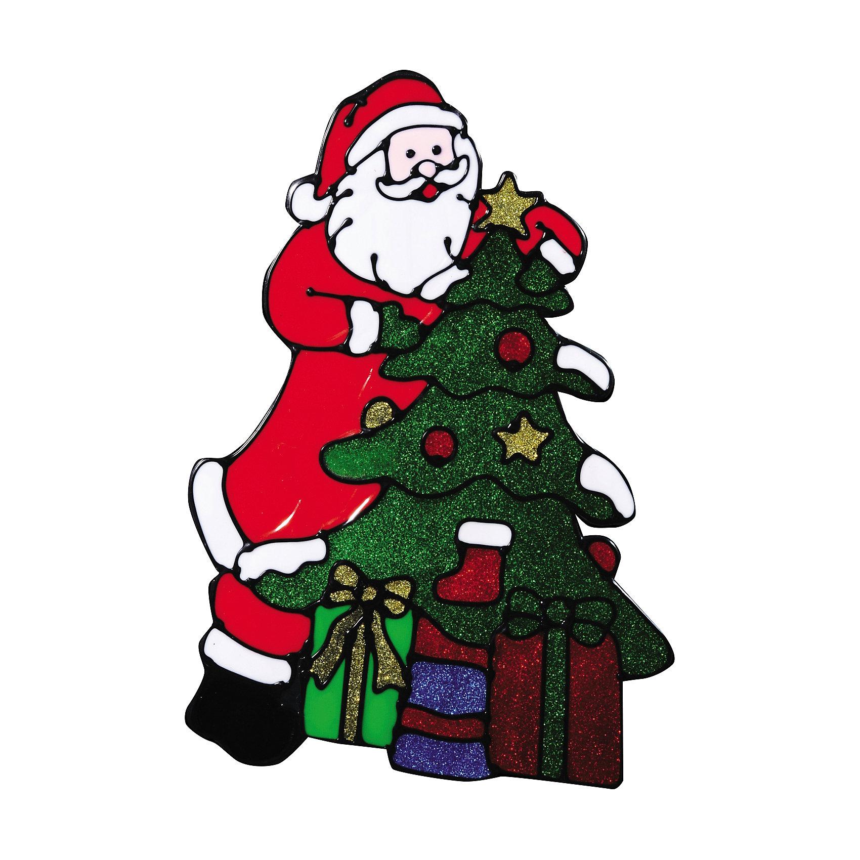 Наклейка на окно Счастливого рождества!  21*31 смНаклейку на окно Счастливого рождества!  21*31 см можно преподнести в качестве мини-презента на праздники Рождества и Нового Года. Добрый Санта с подарками и елочкой замечательно украсит новогодний интерьер и создаст праздничное настроение Вам и Вашим близким!  <br><br>Дополнительная информация:<br>-Материалы: силикон, блестки<br>-Размер в упаковке: 21х0,5х31 см<br>-Вес в упаковке: 87 г<br>-Размер: 21х31 см<br><br>Наклейка на окно Счастливого рождества!  21*31 см можно купить в нашем магазине.<br><br>Ширина мм: 210<br>Глубина мм: 5<br>Высота мм: 310<br>Вес г: 87<br>Возраст от месяцев: 84<br>Возраст до месяцев: 2147483647<br>Пол: Унисекс<br>Возраст: Детский<br>SKU: 4286724