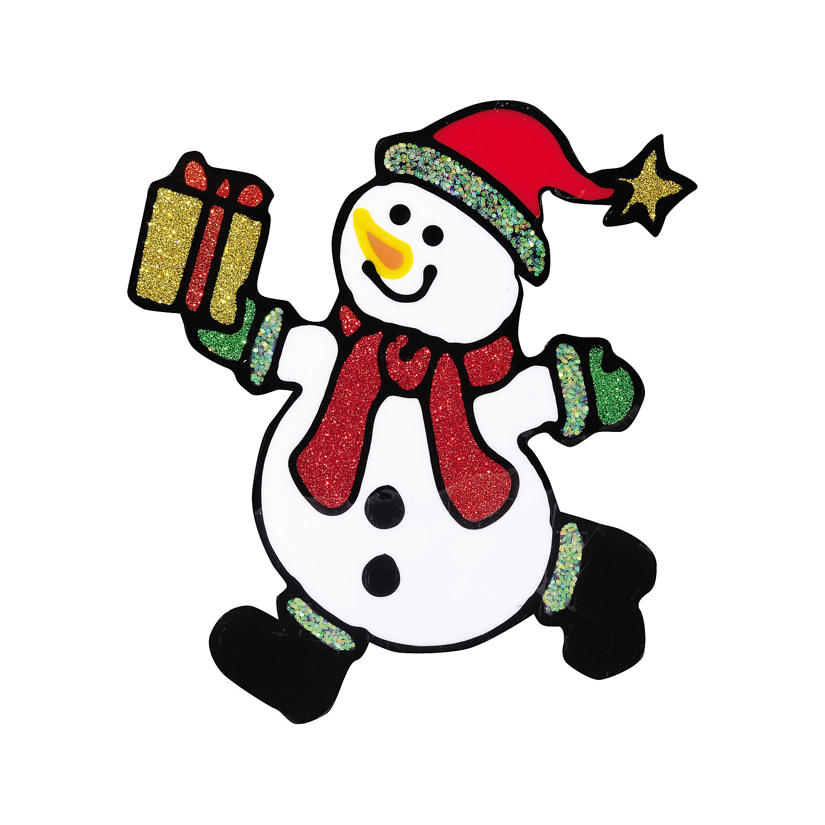 Наклейка на окно Сюрприз 14*16 смНовинки Новый Год<br>Наклейка на окно Сюрприз 14*16 см станет приятным сюрпризом для того, кому будет преподнесен этот сувенир! Ведь наклейка с забавным снеговиком, спешащим в Ваш дом, оживит любой интерьер, будет радовать глаз и поднимать настроение в праздничные дни!<br><br>Дополнительная информация:<br>-Материалы: силикон, блестки<br>-Размер в упаковке: 14х0,5х16 см<br>-Вес в упаковке: 21 г<br>-Размер: 14х16 см<br><br>Наклейка на окно Сюрприз 14*16 см можно купить в нашем магазине.<br><br>Ширина мм: 140<br>Глубина мм: 5<br>Высота мм: 160<br>Вес г: 21<br>Возраст от месяцев: 84<br>Возраст до месяцев: 2147483647<br>Пол: Унисекс<br>Возраст: Детский<br>SKU: 4286726