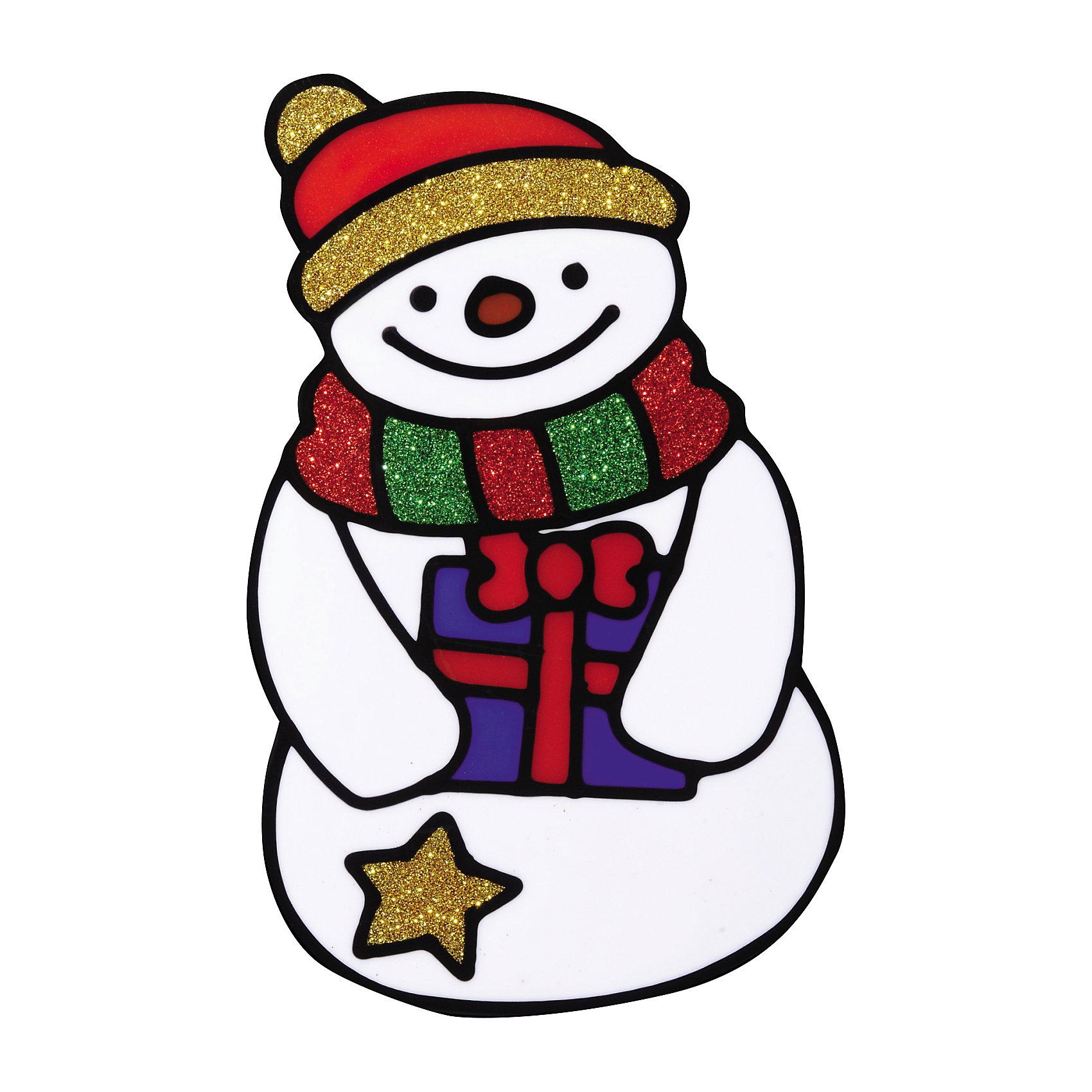 Наклейка на окно Снеговик 10*15 смНовинки Новый Год<br>Наклейка на окно Снеговик 10*15 см наряду с другими новогодними атрибутами усилит волшебную атмосферу в доме, ведь чем больше новогодних украшений, тем наряднее и запоминающимся будет праздник! Вы сможете оригинально украсить окно или витрину или презентовать этот сувенир близким или друзьям!<br><br>Дополнительная информация:<br>-Материалы: силикон, блестки<br>-Размер в упаковке:10х0,5х15 см<br>-Вес в упаковке: 26 г<br>-Размер: 10х15 см<br><br>Наклейка на окно Снеговик 10*15 см можно купить в нашем магазине.<br><br>Ширина мм: 100<br>Глубина мм: 5<br>Высота мм: 150<br>Вес г: 26<br>Возраст от месяцев: 84<br>Возраст до месяцев: 2147483647<br>Пол: Унисекс<br>Возраст: Детский<br>SKU: 4286727