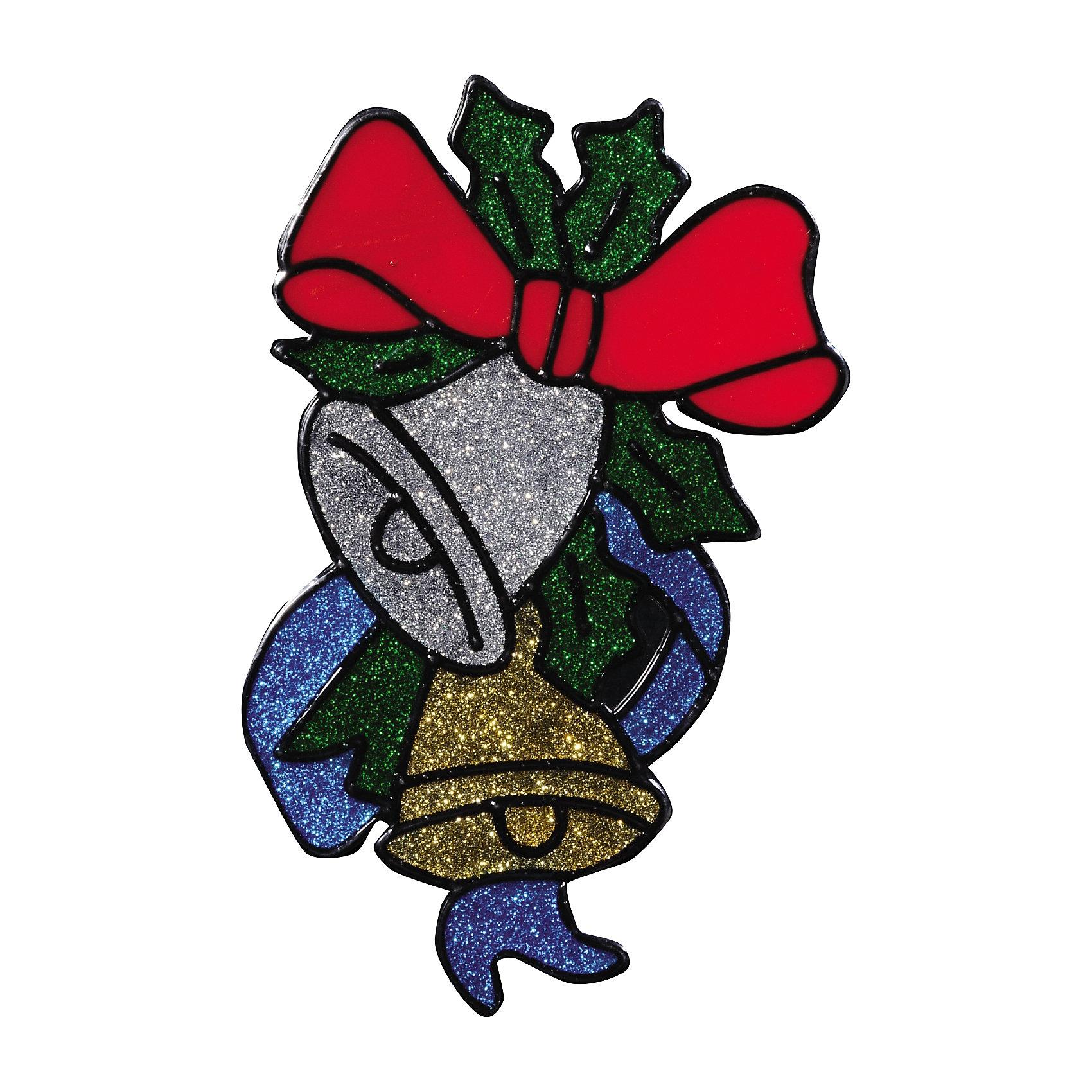 Наклейке на окно Серебряный звон 12*18 смНаклейка на окно Серебряный звон 12*18 см превосходно подходит для праздничного оформления витрин, окон, зеркал и других элементов интерьера. Наклейка выполнена в виде 2 колокольчиков, украшенных праздничным бантом и лентами, и вся композиция декорирована блестками. Украшение поможет создать новогоднюю атмосферу, превратив окно в сказочный витраж! <br><br>Дополнительная информация:<br>-Материалы: силикон, блестки<br>-Размер в упаковке: 12х0,5х18 см<br>-Вес в упаковке: 26 г<br>-Размер: 12х18 см<br><br>Наклейка на окно Серебряный звон 12*18 см можно купить в нашем магазине.<br><br>Ширина мм: 120<br>Глубина мм: 5<br>Высота мм: 180<br>Вес г: 26<br>Возраст от месяцев: 84<br>Возраст до месяцев: 2147483647<br>Пол: Унисекс<br>Возраст: Детский<br>SKU: 4286728