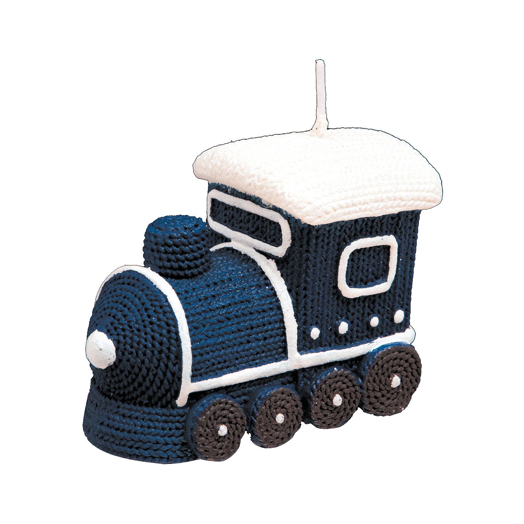 ErichKrause Свеча Синий паравозик 7 см машинки hti паровозик roadsterz синий с вагоном звуковыми и световыми эффектами