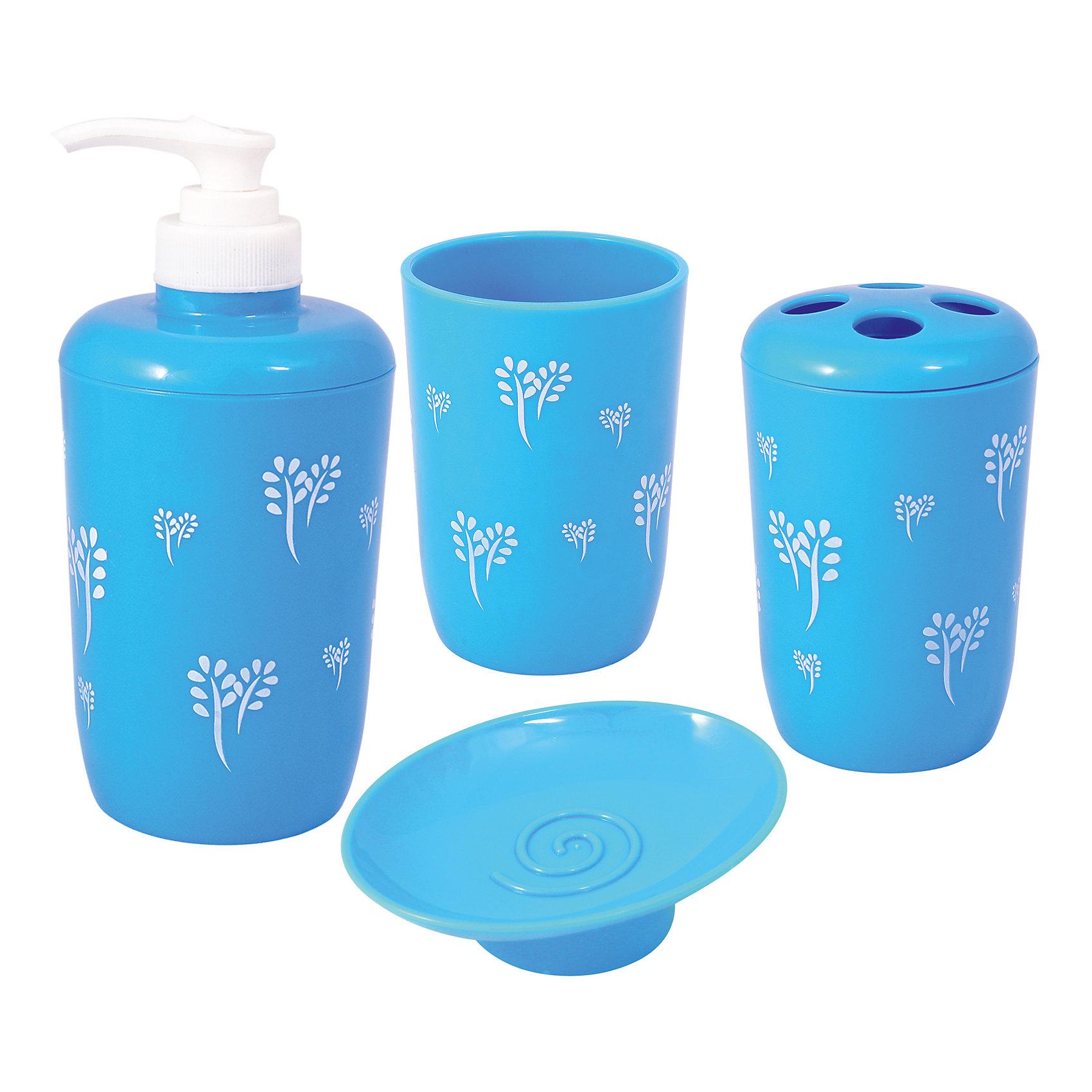 Набор для ванной (4 предмета)Набор для ванной BathP-02 Азур - отличный вариант для Вашей ванной комнаты. Практичный и компактный набор включает в себя все необходимые для ежедневного ухода предметы: диспенсер, держатель зубных щеток, мыльницу и стакан. Весь комплект выполнен в одной цветовой гамме из прочного пластика. <br><br>Дополнительная информация:<br><br>- В комплекте: диспенсер, держатель зубных щеток, мыльница, стакан.<br>- Материал: пластик.<br>- Размер упаковки: 15 х 15 х 12 см.<br>- Вес: 0,416 кг.<br><br>Набор для ванной BathP-02  Азур (4 предмета) можно купить в нашем интернет-магазине.<br><br>Ширина мм: 150<br>Глубина мм: 150<br>Высота мм: 120<br>Вес г: 416<br>Возраст от месяцев: 36<br>Возраст до месяцев: 2147483647<br>Пол: Унисекс<br>Возраст: Детский<br>SKU: 4288539