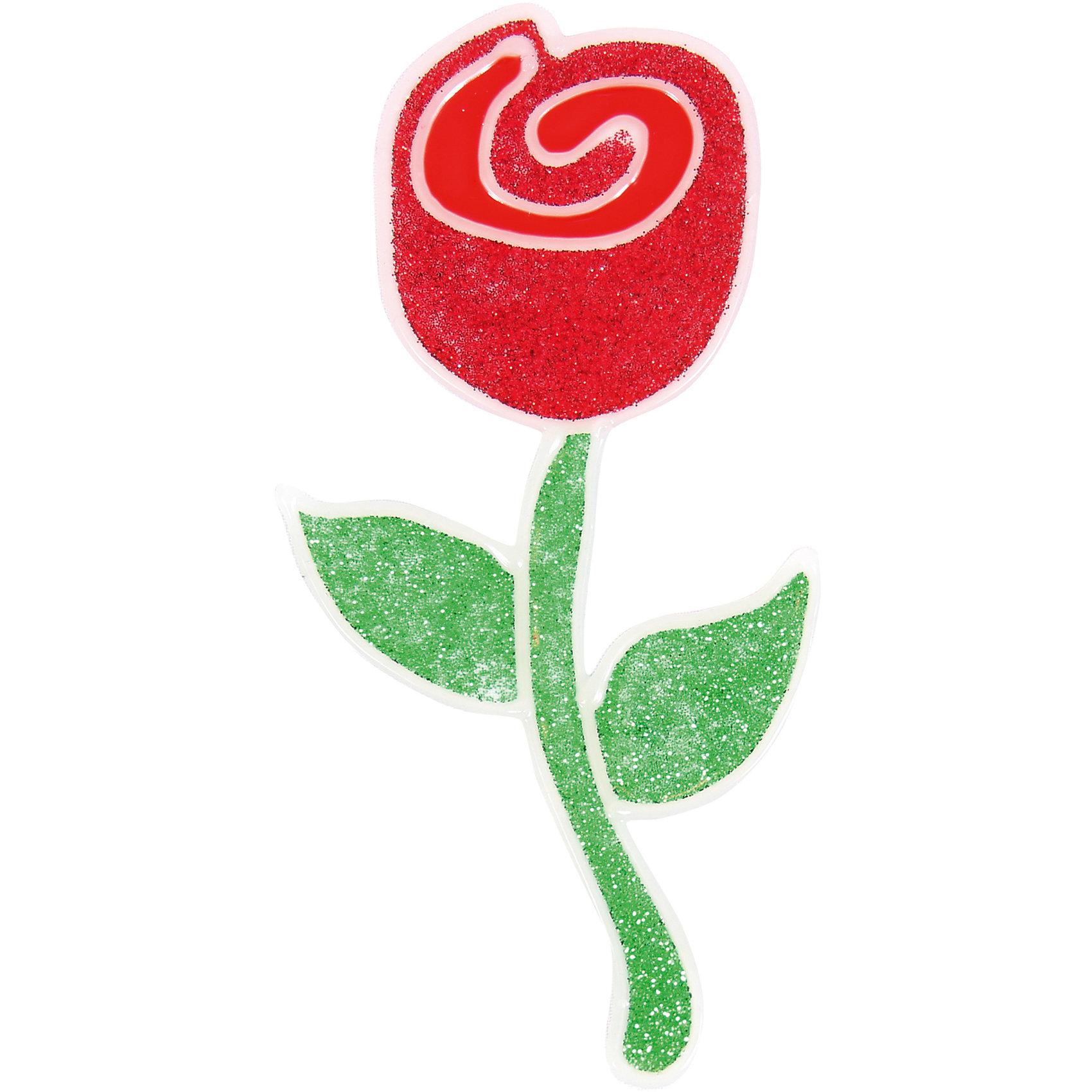 Наклейка на окно РозаНовинки Новый Год<br>Наклейка на окно Роза, Волшебная страна, замечательно украсит Ваш интерьер и создаст праздничное настроение. Наклейка выполнена в виде красивого розового бутона с зеленым стеблем и листьями. <br><br>Дополнительная информация:<br><br>- Размер наклейки: 15,5 см.<br>- Вес: 18 гр. <br><br>Наклейку на окно Роза, Волшебная страна, можно купить в нашем интернет-магазине.<br><br>Ширина мм: 160<br>Глубина мм: 1<br>Высота мм: 230<br>Вес г: 18<br>Возраст от месяцев: 36<br>Возраст до месяцев: 2147483647<br>Пол: Унисекс<br>Возраст: Детский<br>SKU: 4288624