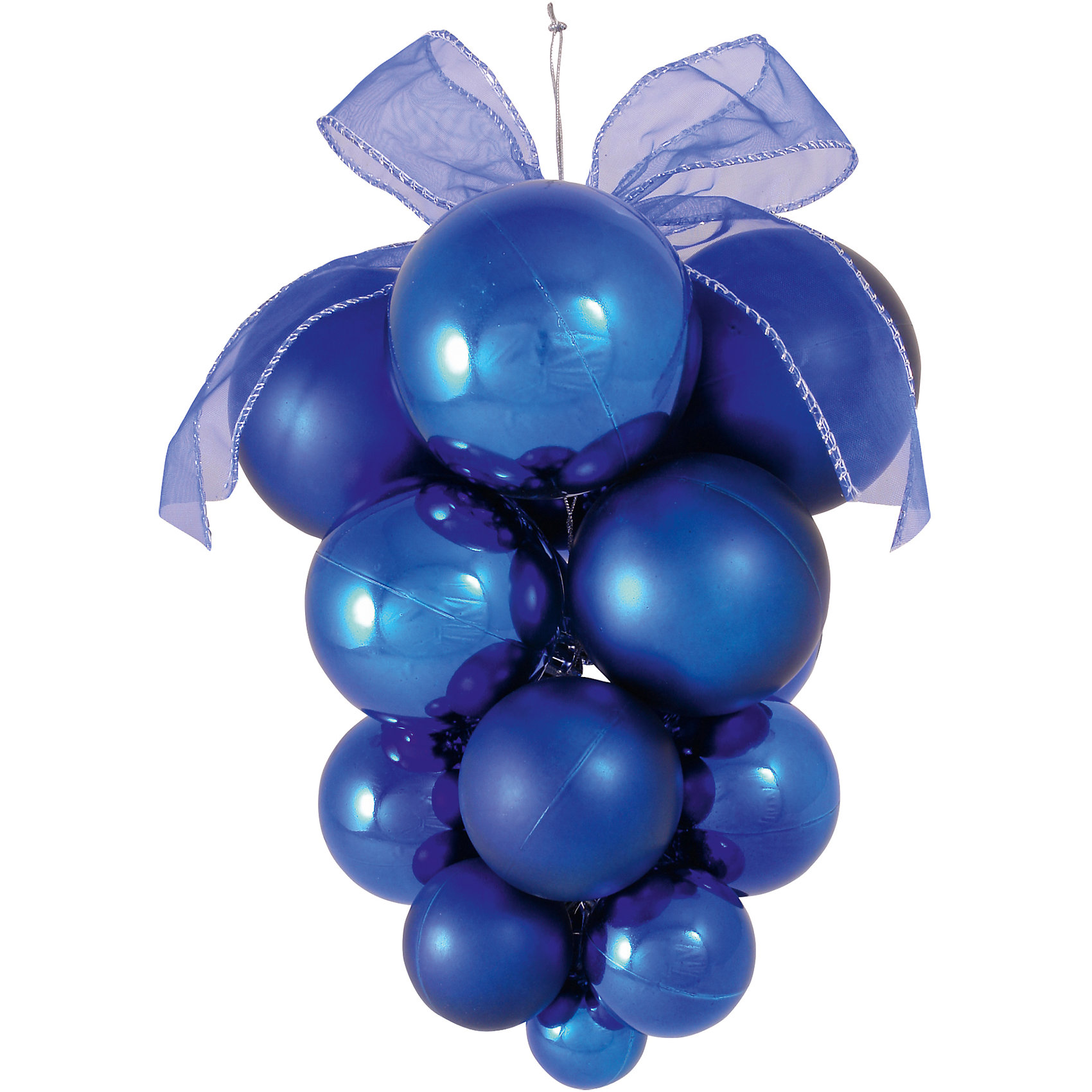 Синее украшение ГроздьСинее украшение Гроздь, Волшебная страна, замечательно украсит Ваш новогодний интерьер или елку и поможет создать праздничную радостную атмосферу. Украшение выполнено в виде красивой виноградной грозди из синих шариков, оно будет чудесно смотреться на елке и радовать детей и взрослых.<br><br>Дополнительная информация:<br><br>- Цвет: синий.<br>- Материал: пластик.<br>- Размер: 24 х 17 х 23 см.<br>- Вес: 168 гр.<br><br>Синее украшение Гроздь, Волшебная страна, можно купить в нашем интернет-магазине.<br><br>Ширина мм: 240<br>Глубина мм: 170<br>Высота мм: 230<br>Вес г: 167<br>Возраст от месяцев: 36<br>Возраст до месяцев: 2147483647<br>Пол: Унисекс<br>Возраст: Детский<br>SKU: 4288637