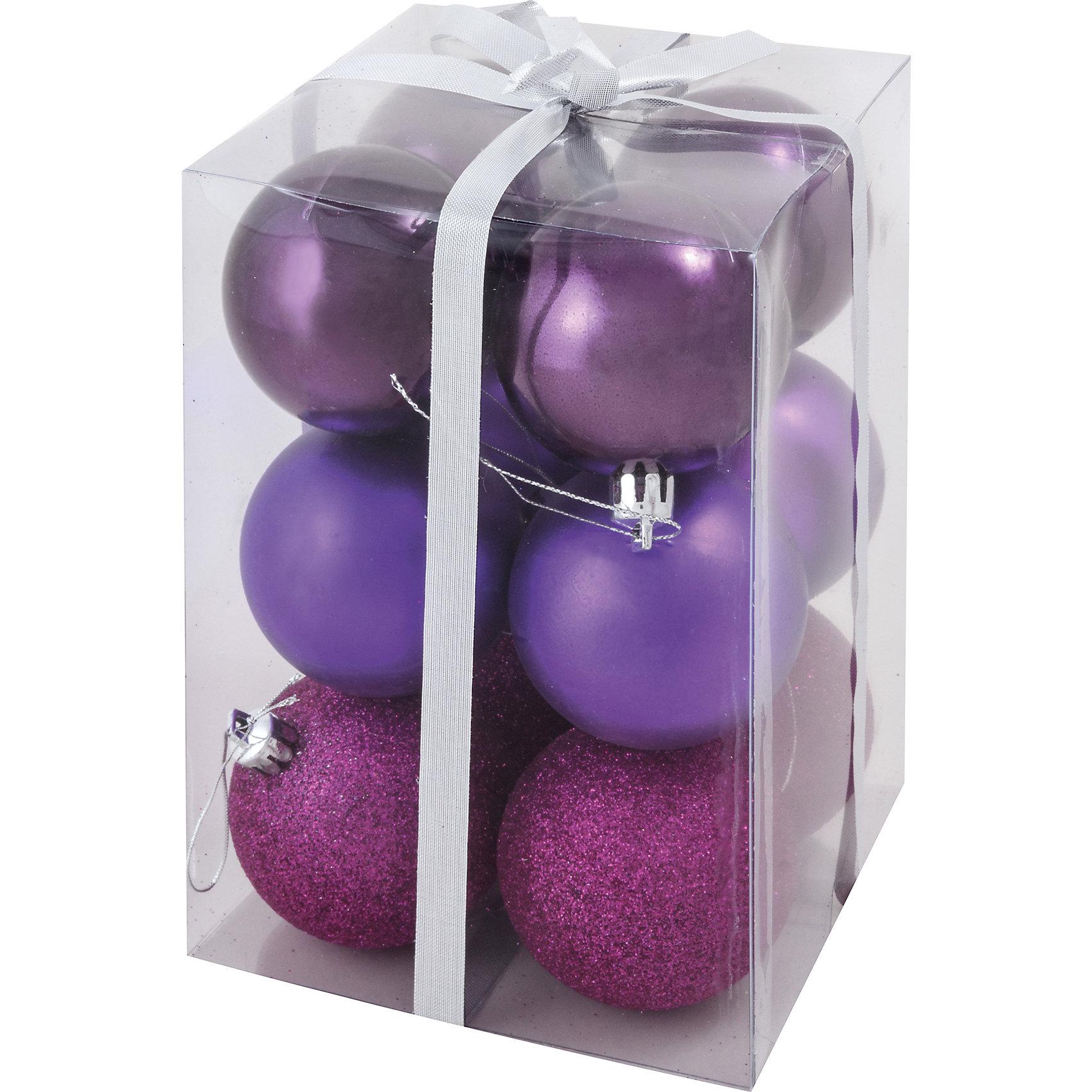 Фиолетовый набор шаров (6 шт)Фиолетовый набор шаров, Волшебная страна, станет замечательным украшением для Вашей новогодней елки и поможет создать праздничную волшебную атмосферу. В комплекте двенадцать  шаров красивого баклажанового цвета с разными поверхностями (матовые, глянцевые и блестящие), они будут чудесно смотреться на елке и радовать детей и взрослых. Шары упакованы в прозрачную коробочку из ПВХ.<br><br>Дополнительная информация:<br><br>- Цвет: баклажановый.<br>- В комплекте: 12 шт. (4 глянцевых, 4 матовых, 4 блестящих).<br>- Материал: пластик.<br>- Диаметр шара: 6 см.<br>- Размер упаковки: 11 x 18 x 12 см.<br>- Вес: 188 гр.<br><br>Фиолетовый набор шаров (6 шт.), Волшебная страна, можно купить в нашем интернет-магазине.<br><br>Ширина мм: 110<br>Глубина мм: 180<br>Высота мм: 120<br>Вес г: 188<br>Возраст от месяцев: 36<br>Возраст до месяцев: 2147483647<br>Пол: Унисекс<br>Возраст: Детский<br>SKU: 4288650