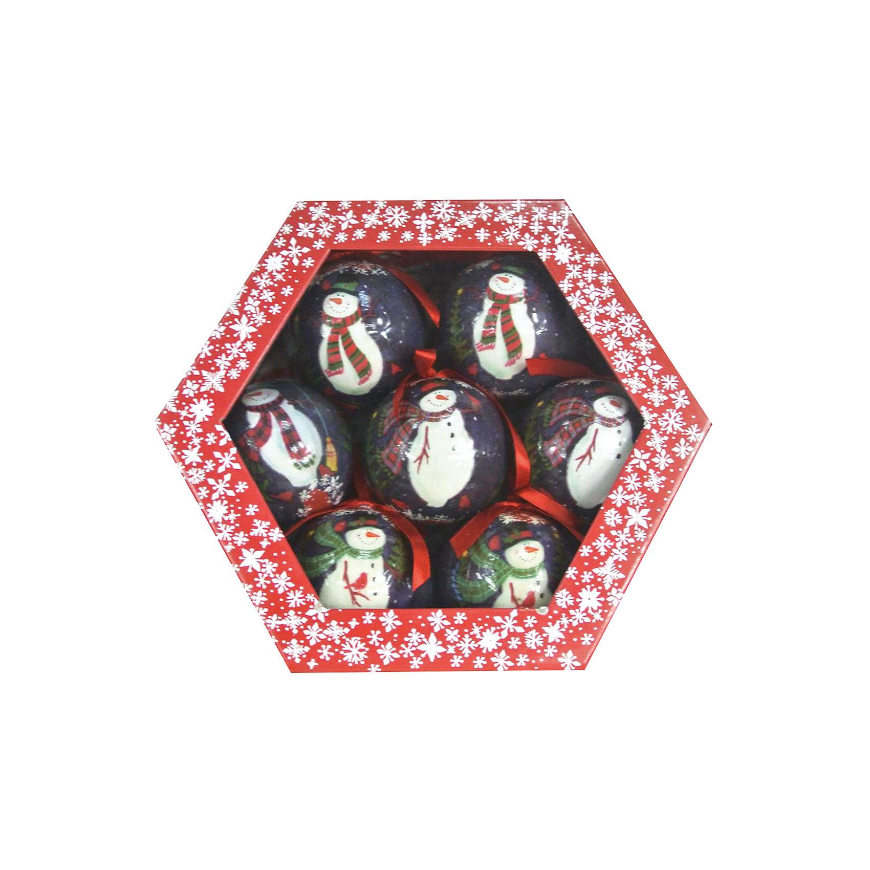 Набор глянцевых шаров Снеговик (7 шт)Глянцевые шары Снеговик, Волшебная страна, станут замечательным украшением для Вашей новогодней елки и помогут создать праздничную волшебную атмосферу. В комплекте семь глянцевых шаров, украшенных изображением забавного снеговика, они будут чудесно смотреться на елке и радовать детей и взрослых. Шары упакованы в цветную подарочную коробочку.<br><br>Дополнительная информация:<br><br>- Материал: пластик.<br>- В комплекте: 7 шт.<br>- Диаметр шара: 7,5 см.<br>- Размер упаковки: 25 x 8 x 22 см.<br>- Вес: 0,327 кг.<br><br>Набор глянцевых шаров Снеговик (7 шт.), Волшебная страна, можно купить в нашем интернет-магазине.<br><br>Ширина мм: 250<br>Глубина мм: 80<br>Высота мм: 220<br>Вес г: 327<br>Возраст от месяцев: 36<br>Возраст до месяцев: 2147483647<br>Пол: Унисекс<br>Возраст: Детский<br>SKU: 4288666