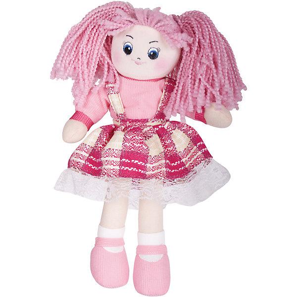 Кукла Клубничка, 30см, GulliverКуклы<br>Кукла Клубничка, 30см, Gulliver (Гулливер) в модном клетчатом платье с оборкой отличается мягкими ручками и ножками, полностью подвижными, поэтому куклу можно сажать на поверхность со спинкой, например, в игрушечную коляску. Вышитые нитками глаза, брови, нос и губы очень яркие на плюшевом, нежном лице. Кукла Клубничка достигает в высоту 30 сантиметров, поэтому ее комфортно брать с собой, носить на руках и играть в любом месте.<br><br>Дополнительная информация:<br>-Размер в упаковке: 30х10х7 см<br>-Вес в упаковке: 141 г<br>-Материалы: текстиль, синтепон<br>-Длина куклы: 30 см<br>-Развивает: воображение, тактильную чувствительность, речь, мелкую моторику<br><br>Яркая мягкая Кукла Клубничка, 30см, Gulliver (Гулливер) станет любимой игрушкой и подружкой любой малышке!<br><br>Кукла Клубничка, 30см, Gulliver (Гулливер) можно купить в нашем магазине.<br><br>Ширина мм: 300<br>Глубина мм: 102<br>Высота мм: 70<br>Вес г: 141<br>Возраст от месяцев: 36<br>Возраст до месяцев: 84<br>Пол: Женский<br>Возраст: Детский<br>SKU: 4288937