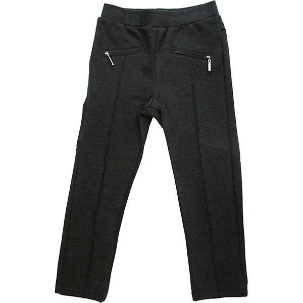 Брюки для девочки Sweet BerryБрюки<br>Стильные трикотажные брюки с застроченными спереди стрелками. На эластичном поясе с резинкой. Брюки украшены иммитацией карманов в рамку с молнией. <br>Состав: <br>95% хлопок, 5% эластан<br><br>Ширина мм: 215<br>Глубина мм: 88<br>Высота мм: 191<br>Вес г: 336<br>Цвет: серый<br>Возраст от месяцев: 72<br>Возраст до месяцев: 84<br>Пол: Женский<br>Возраст: Детский<br>Размер: 122,98,110,116,128,104<br>SKU: 4291396