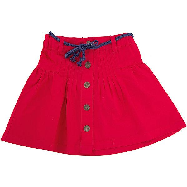 Юбка Sweet BerryЮбки<br>Яркая юбка на кокетке дополнена съемным плетеным ремешком. Выполнена из качественного хлопка. Застежка спереди на пуговицы <br>Состав: <br>100% хлопок<br>Ширина мм: 207; Глубина мм: 10; Высота мм: 189; Вес г: 183; Цвет: красный; Возраст от месяцев: 24; Возраст до месяцев: 36; Пол: Женский; Возраст: Детский; Размер: 98,128,116,110,104,122; SKU: 4291410;