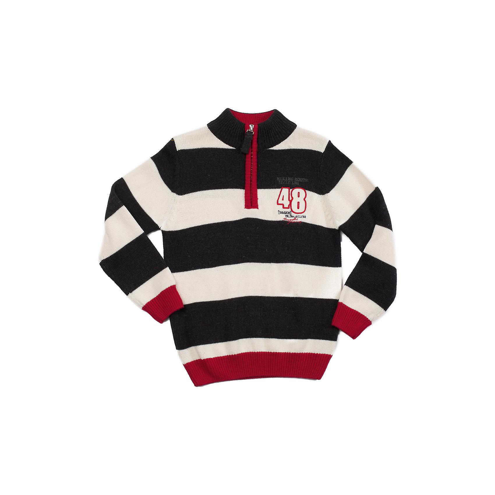 Свитер для мальчика Sweet BerryСвитер для мальчика с молнией по горловине для комфортного одевания. Декорирован контрастными полосами и аппликацией. <br>Состав: <br>60% хлопок, 40% акрил<br><br>Ширина мм: 190<br>Глубина мм: 74<br>Высота мм: 229<br>Вес г: 236<br>Цвет: серо-красный<br>Возраст от месяцев: 24<br>Возраст до месяцев: 36<br>Пол: Мужской<br>Возраст: Детский<br>Размер: 98,110,122,104,116,128<br>SKU: 4291543