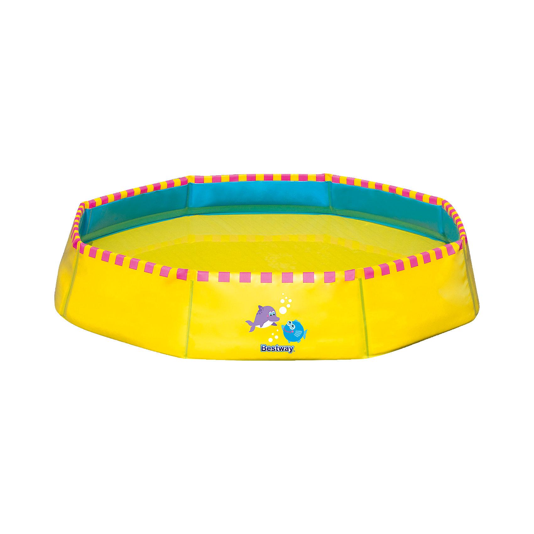 Bestway Ненадувной бассейн, 117 л жёлтый, Bestway бассейн tom jerry bestway 61х15 см bw93043