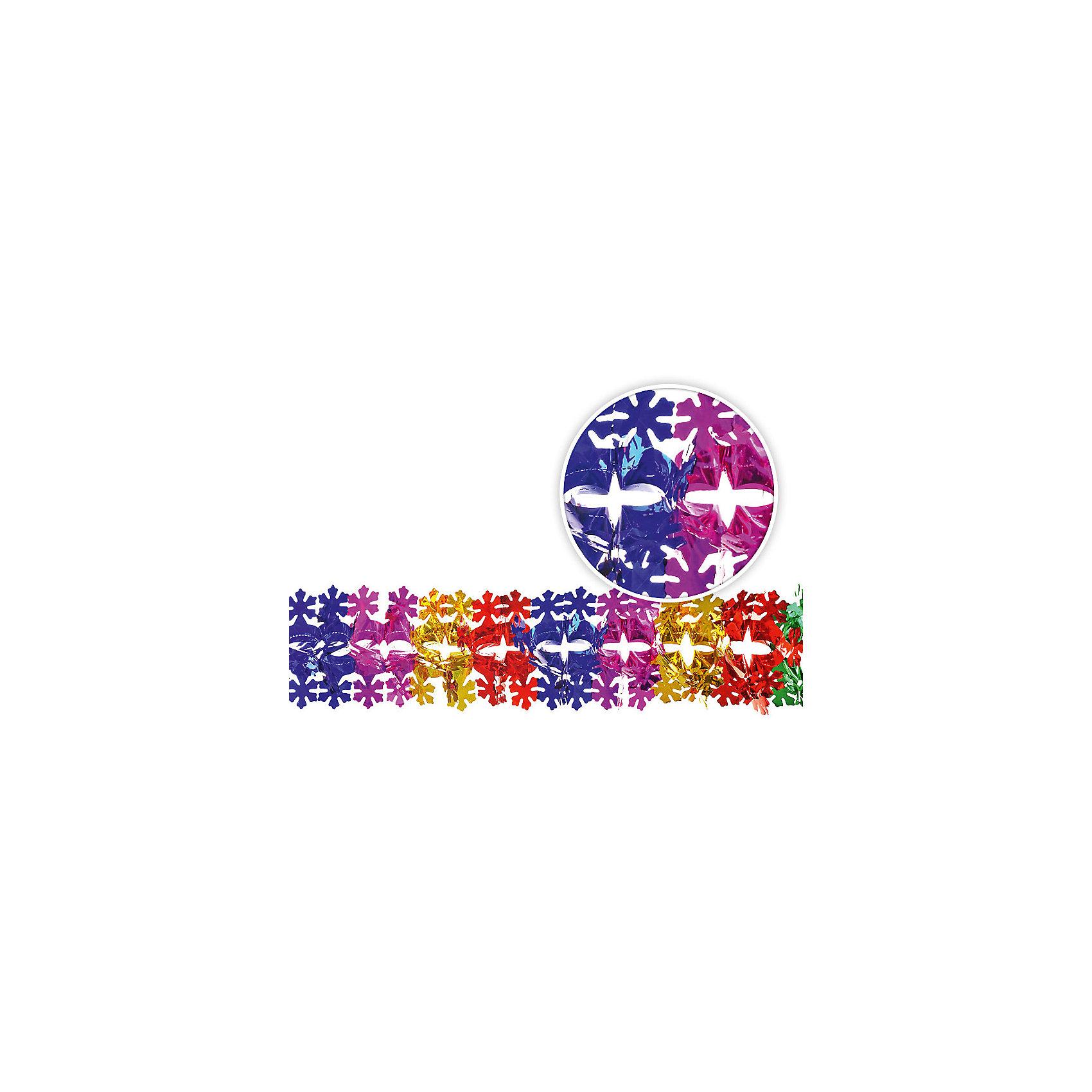 Растяжка СнежинкиНовинки Новый Год<br>Растяжка Снежинки подойдет для декорирования любых помещения и витрин, поможет создать атмосферу праздника. Яркая фольгированная гирлянда хорошо сочетается с различными новогодними аксессуарами.  <br><br>Дополнительная информация:<br><br>- Материал: фольгированная бумага.<br>- Размер: d -15 см.<br><br>Растяжку Снежинки можно купить в нашем магазине.<br><br>Ширина мм: 150<br>Глубина мм: 150<br>Высота мм: 30<br>Вес г: 100<br>Возраст от месяцев: 36<br>Возраст до месяцев: 2147483647<br>Пол: Унисекс<br>Возраст: Детский<br>SKU: 4293024