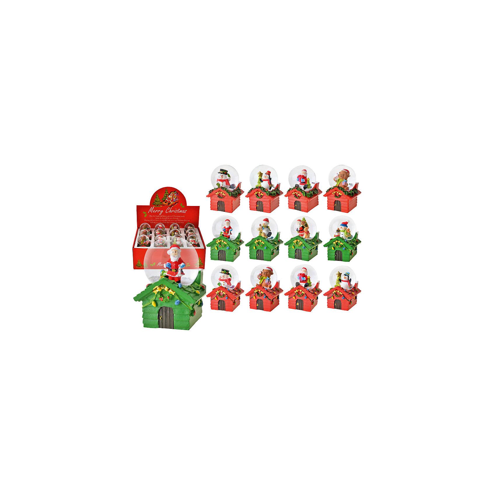 Снежный водяной шар Домик, в ассортиментеОчаровательный шарик станет прекрасным праздничным сувениром. Стоит только потрясти его - и случится новогоднее чудо: внутри маленького шарика пойдет настоящий снег, снежинки будут кружиться в танце, завораживая и создавая атмосферу праздника. <br><br>Дополнительная информация:<br><br>- Материал: пластик.<br>- Размер: 7х5х5х см.<br>- 12 штук в ассортименте.<br>ВНИМАНИЕ! Данный артикул представлен в разных вариантах исполнения. К сожалению, заранее выбрать определенный вариант невозможно. При заказе нескольких шаров возможно получение одинаковых.<br><br>Снежный водяной шар Домик, в ассортименте, можно купить в нашем магазине.<br><br>Ширина мм: 70<br>Глубина мм: 50<br>Высота мм: 50<br>Вес г: 250<br>Возраст от месяцев: 36<br>Возраст до месяцев: 2147483647<br>Пол: Унисекс<br>Возраст: Детский<br>SKU: 4293035
