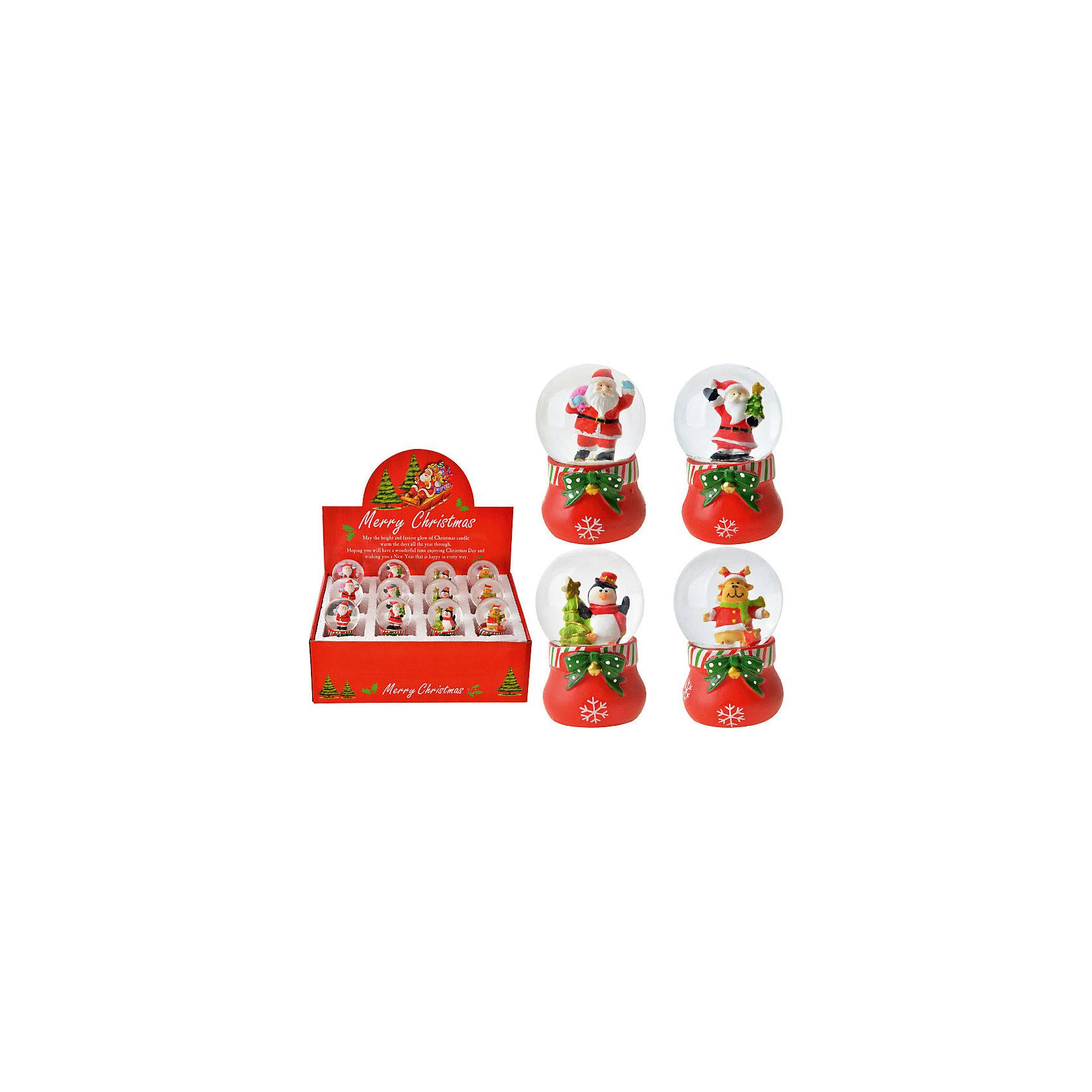 Снежный водяной шар С Новым годом!, в ассортиментеОчаровательный шарик станет прекрасным праздничным сувениром. Стоит только потрясти его - и случится новогоднее чудо: внутри маленького шарика пойдет настоящий снег, снежинки будут кружиться в танце, завораживая и создавая атмосферу праздника. <br><br>Дополнительная информация:<br><br>- Материал: пластик.<br>- Размер: 7х5х5х см.<br>- 12 штук в ассортименте.<br>ВНИМАНИЕ! Данный артикул представлен в разных вариантах исполнения. К сожалению, заранее выбрать определенный вариант невозможно. При заказе нескольких шаров возможно получение одинаковых.<br><br>Снежный водяной шар С Новым годом! в ассортименте, можно купить в нашем магазине.<br><br>Ширина мм: 70<br>Глубина мм: 50<br>Высота мм: 50<br>Вес г: 250<br>Возраст от месяцев: 36<br>Возраст до месяцев: 2147483647<br>Пол: Унисекс<br>Возраст: Детский<br>SKU: 4293036