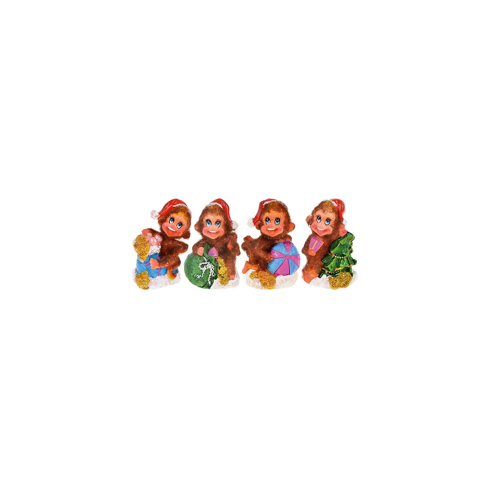 Статуэтка Пушистая обезьянка 5,5*4,5*6 смНовинки Новый Год<br>Декоративная статуэтка Пушистая обезьянка - прекрасный вариант для праздничного сувенира. Яркая статуэтка в виде символа года будет актуальным подарком абсолютно для каждого!   <br><br>Дополнительная информация:<br><br>- Материал: полистоун.<br>- Размер: 5,5х4,5х6 см.<br>- 4 фигурки в ассортименте.<br>ВНИМАНИЕ! Данный артикул представлен в разных вариантах исполнения. К сожалению, заранее выбрать определенный вариант невозможно. При заказе нескольких статуэток возможно получение одинаковых.<br><br>Статуэтку Пушистая обезьянка 5,5х4,5х6 см, можно купить в нашем магазине.<br><br>Ширина мм: 55<br>Глубина мм: 45<br>Высота мм: 60<br>Вес г: 250<br>Возраст от месяцев: 36<br>Возраст до месяцев: 2147483647<br>Пол: Унисекс<br>Возраст: Детский<br>SKU: 4293040