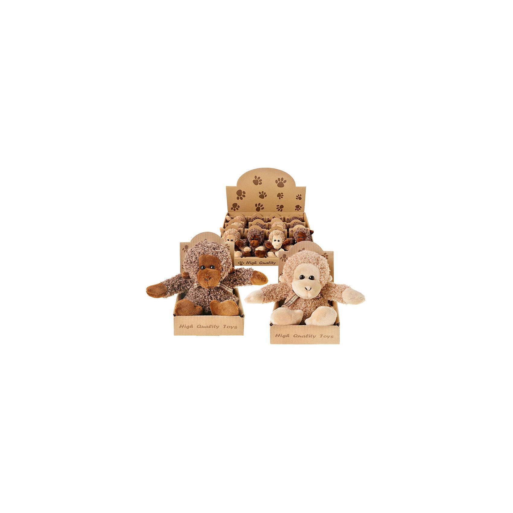 Мягкая игрушка Обезьяна, в ассортиментеЭта очаровательная мягкая игрушка понравится всем! Мягкая обезьянка - символ наступающего года станет прекрасным праздничным сувениром абсолютно для каждого! <br><br>Дополнительная информация:<br><br>- Материал: текстиль, пластик, синтепон.<br>- Размер: 11,5х8,5 см. <br>- 2 игрушки в ассортименте.<br>ВНИМАНИЕ! Данный артикул представлен в разных вариантах исполнения. К сожалению, заранее выбрать определенный вариант невозможно. При заказе нескольких игрушек возможно получение одинаковых.<br><br>Мягкую игрушку Обезьяна, в ассортименте, можно купить в нашем магазине.<br><br>Ширина мм: 60<br>Глубина мм: 60<br>Высота мм: 30<br>Вес г: 100<br>Возраст от месяцев: 36<br>Возраст до месяцев: 2147483647<br>Пол: Унисекс<br>Возраст: Детский<br>SKU: 4293042