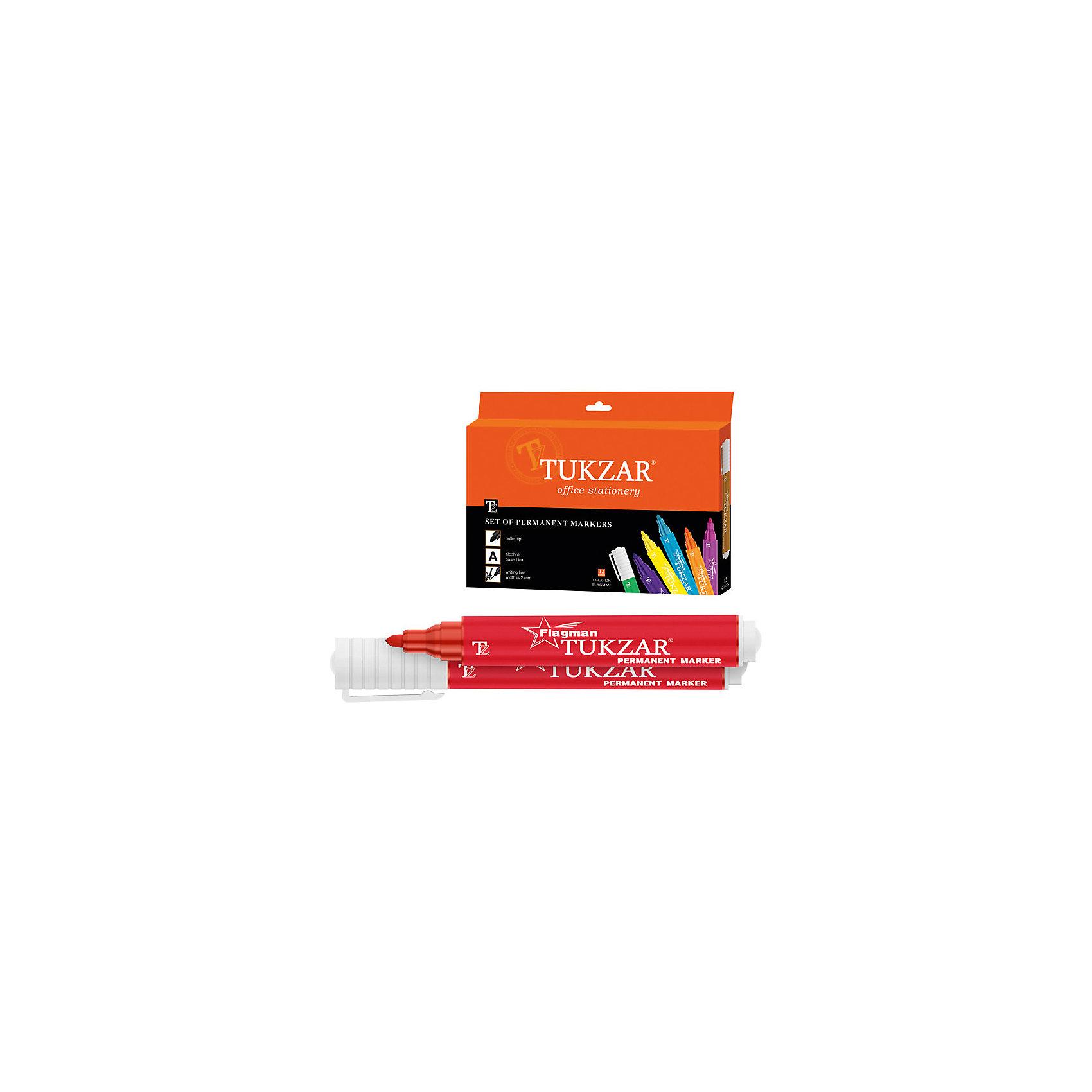 Перманентные маркеры Flagman 12 цветовНабор маркеров перманентных FLAGMAN, 12 цветов, пулевидный наконечник, 2 мм, упаковка - картонная коробка<br><br><br>Надпись, сделанная перманентным маркером FLAGMAN, не сотрется и не смажется. Острый наконечник позволяет прорабатывать мелкие детали и сложные шрифты.  <br><br>Дополнительная информация:<br><br>- Материал: пластик, чернила.<br>- Размер упаковки: 16х21,5 см.<br>- Диаметр наконечника: 2 мм. <br>- Острый, пулевидный наконечник.<br>- 12 цветов в комплекте. <br><br>Перманентные маркеры Flagman, 12 цветов, можно купить в нашем магазине.<br><br>Ширина мм: 160<br>Глубина мм: 215<br>Высота мм: 20<br>Вес г: 250<br>Возраст от месяцев: 36<br>Возраст до месяцев: 2147483647<br>Пол: Унисекс<br>Возраст: Детский<br>SKU: 4293051