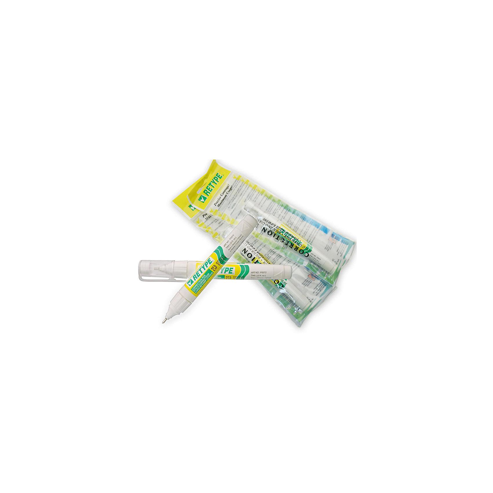 Штрих-карандаш Retype 7 млБлагодаря острому тонкому наконечнику, штрих-карандаш RETYPE позволяет незаметно замаскировать даже самую небольшую помарку. Штрих хорошо и ровно наносится, быстро высыхает на бумаге, занимает мало места, удобно носить с собой в пенале. <br><br>Дополнительная информация:<br><br>- Материал: пластик, корректирующая жидкость, металл.<br>- Объем флакона: 7 мл. <br><br>Штрих-карандаш Retype 7 мл., можно купить в нашем магазине.<br><br>Ширина мм: 130<br>Глубина мм: 10<br>Высота мм: 10<br>Вес г: 27<br>Возраст от месяцев: 36<br>Возраст до месяцев: 2147483647<br>Пол: Унисекс<br>Возраст: Детский<br>SKU: 4293053