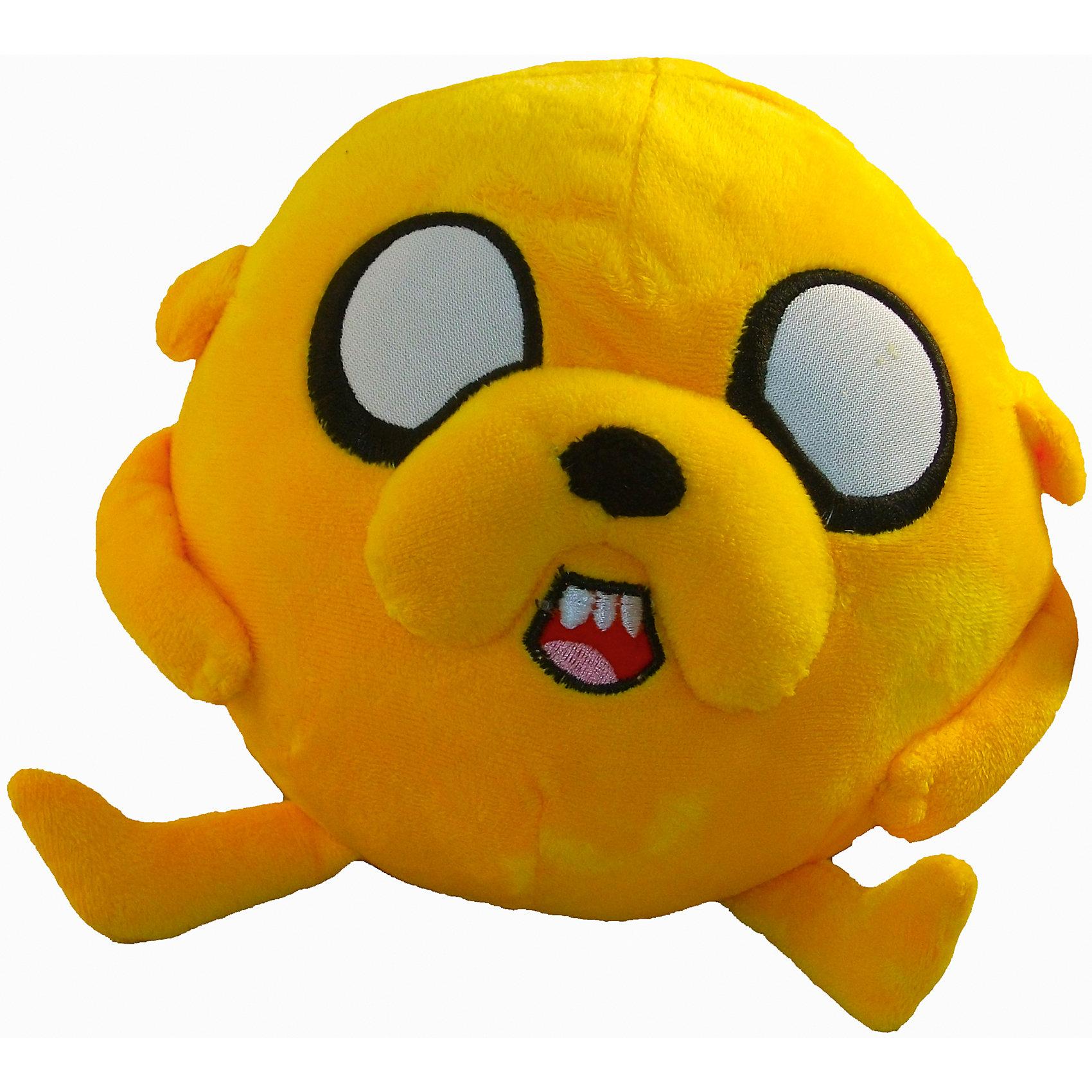 Игрушка Джейк, 18 см, Время приключенийИгрушка Джейк, 18 см, Время приключений - это мягкая, забавная игрушка мячик Джейк для поклонника мультсериала Время Приключений!<br>Игрушка Джейк создана по мотивам мультсериала Adventure Time (Приключения с Финном и Джейком). Плюшевая игрушка в виде мягкого мяча понравится не только малышу, но и любому человеку, ценящему чувство юмора и оригинальность. У мягкого мяча Джейка есть множество полезных достоинств. Им можно играть в футбол в квартире, а можно использовать как подушку. У круглого Джейка все на месте - уши, лапы и хвост небольшого размера смешно дергаются, а передние лапы пришиты к телу.<br><br>Дополнительная информация:<br><br>- Размер: 18 см.<br>- Материал: плюш<br><br>Игрушку Джейк, 18 см, Время приключений можно купить в нашем интернет-магазине.<br><br>Ширина мм: 180<br>Глубина мм: 180<br>Высота мм: 180<br>Вес г: 250<br>Возраст от месяцев: 108<br>Возраст до месяцев: 144<br>Пол: Унисекс<br>Возраст: Детский<br>SKU: 4293061