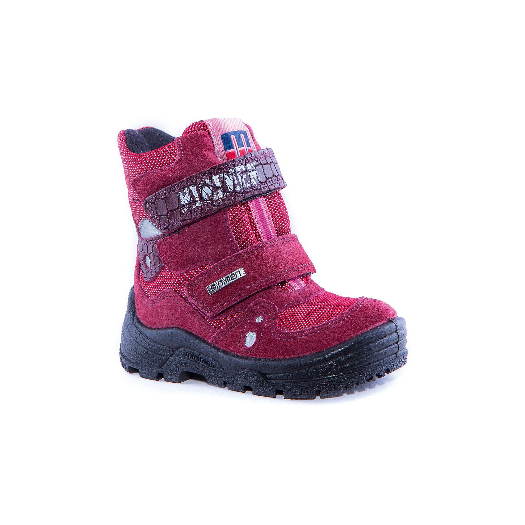 Сапоги  для девочки MinimenСапоги для девочки от известного бренда Minimen<br><br>Стильные утепленные сапоги Minimen созданы для ношения в межсезонье и начинающиеся холода. Их форма тщательно проработана, поэтому детским ножкам в такой обуви тепло и комфортно. Качественные материалы позволяют сделать изделия износостойкими и удобными.<br><br>При создании этой модели использована мембрана SympaTex. Она добавляется в подкладку обуви и позволяют ногам оставаться сухими и теплыми. Мембрана активно отводит влагу наружу, и не дает жидкости проникать внутрь, а также  не создает препятствий для воздуха, обеспечивая комфортные условия для детских ножек.<br><br>Отличительные особенности модели:<br><br>- цвет: красный;<br>- мембрана SympaTex;<br>- гибкая нескользящая подошва;<br>- усиленный носок и задник;<br>- эргономичная форма;<br>- удобная колодка;<br>- шерстяная подкладка;<br>- натуральная кожа;<br>- застежки-липучки.<br><br>Дополнительная информация:<br><br>- Температурный режим: от - 20° С  до +5° С.<br><br>- Состав:<br><br>материал верха: 100% натуральная кожа<br>материал подкладки: 100% шерсть<br>подошва: ТЭП<br><br>Сапоги для девочки Minimen (Минимен) можно купить в нашем магазине.<br><br>Ширина мм: 257<br>Глубина мм: 180<br>Высота мм: 130<br>Вес г: 420<br>Цвет: красный<br>Возраст от месяцев: 12<br>Возраст до месяцев: 15<br>Пол: Женский<br>Возраст: Детский<br>Размер: 22,26,28,24,21,29,27,23,25<br>SKU: 4295604