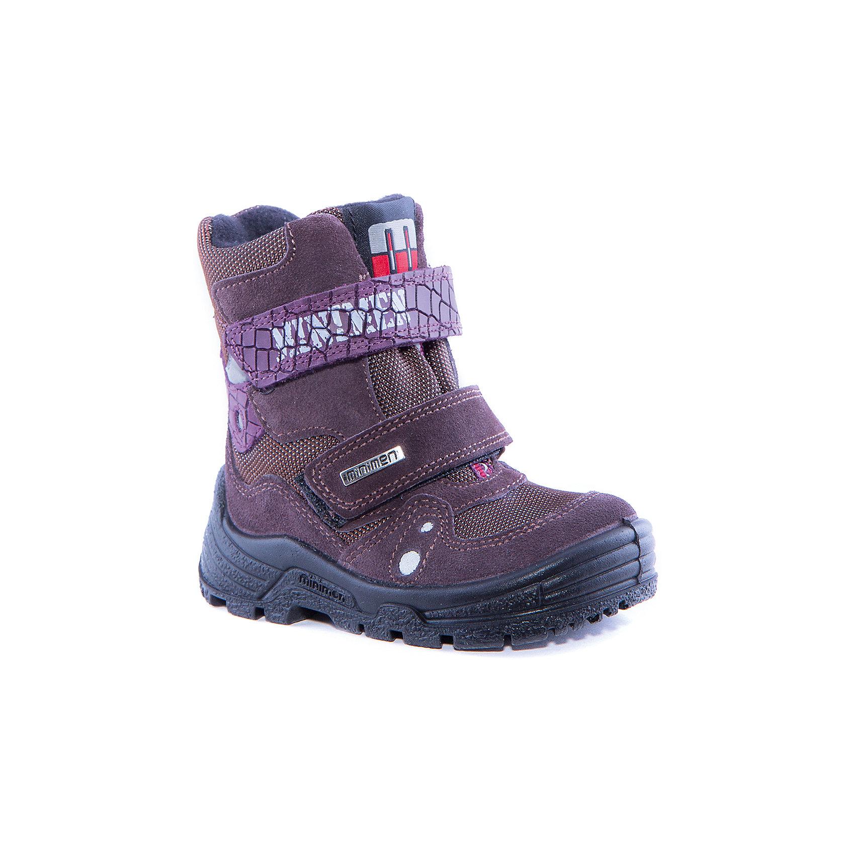 Ботинки для девочки MinimenБотинки<br>Сапоги для девочки от известного бренда Minimen<br><br>Стильные утепленные сапоги Minimen созданы для ношения в межсезонье и начинающиеся холода. Их форма тщательно проработана, поэтому детским ножкам в такой обуви тепло и комфортно. Качественные материалы позволяют сделать изделия износостойкими и удобными.<br><br>При создании этой модели использована мембрана SympaTex. Она добавляется в подкладку обуви и позволяют ногам оставаться сухими и теплыми. Мембрана активно отводит влагу наружу, и не дает жидкости проникать внутрь, а также  не создает препятствий для воздуха, обеспечивая комфортные условия для детских ножек.<br><br>Отличительные особенности модели:<br><br>- цвет: коричневый;<br>- мембрана SympaTex;<br>- гибкая нескользящая подошва;<br>- усиленный носок и задник;<br>- эргономичная форма;<br>- удобная колодка;<br>- шерстяная подкладка;<br>- натуральная кожа;<br>- застежки-липучки.<br><br>Дополнительная информация:<br><br>- Температурный режим: от - 20° С  до +5° С.<br><br>- Состав:<br><br>материал верха: 100% натуральная кожа<br>материал подкладки: 100% шерсть<br>подошва: ТЭП<br><br>Сапоги для девочки Minimen (Минимен) можно купить в нашем магазине.<br><br>Ширина мм: 257<br>Глубина мм: 180<br>Высота мм: 130<br>Вес г: 420<br>Цвет: коричневый<br>Возраст от месяцев: 24<br>Возраст до месяцев: 24<br>Пол: Женский<br>Возраст: Детский<br>Размер: 25,23,29,28,27,26,24,21,22<br>SKU: 4295614