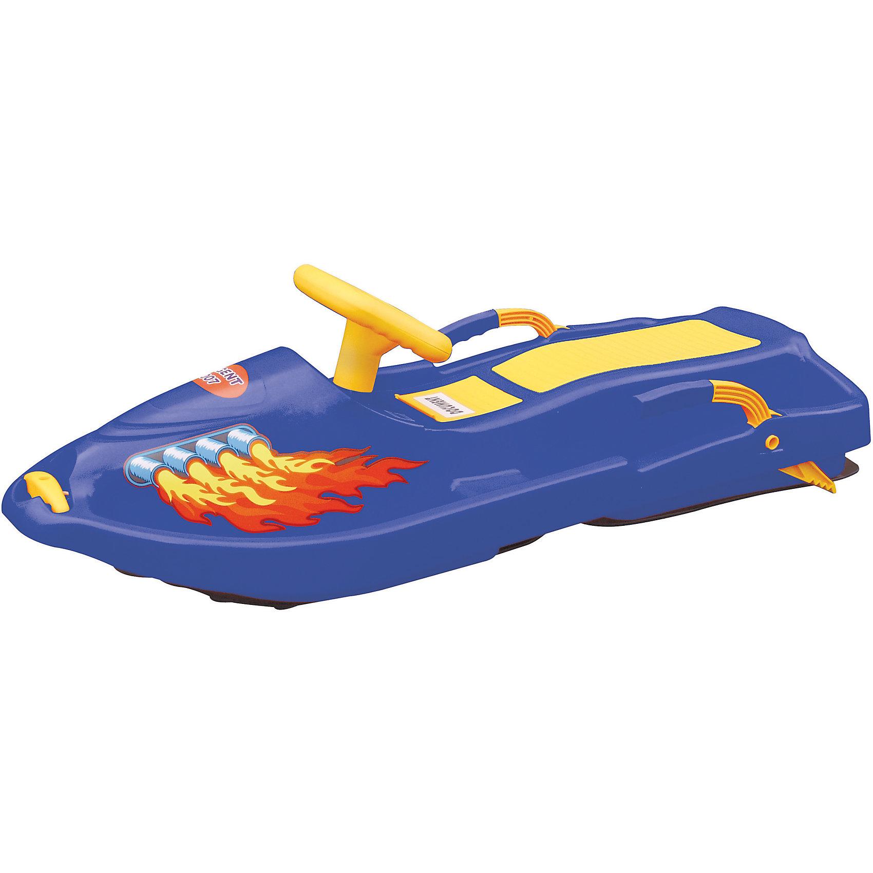 Санки Snow BoatСанки и снегокаты<br>Санки Snow Boat выполнены в виде яркого скутера. Модель изготовлена из высококачественного прочного пластика, имеет тормоз и буксирный шнур. Специальные выступы для ног позволяют ребенку лучше удерживать равновесие. Широкие полозья на которых располагаются санки связаны с рулем специальным рычагом, при повороте руля полозья меняют свое положение. В носовой части есть небольшое углубление, в которое складывает нейлоновый шнур, соединяющий снегокат и небольшую ручку. Прекрасный вариант для зимних забав! Игры и прогулки на свежем воздухе очень полезны для детей, они укрепляют иммунитет ребенка и, конечно, дарят хорошее настроение. <br><br>Дополнительная информация:<br><br>- Материал: пластик.<br>- Цвет: синий.<br>- Размер: 93x43x27 см.<br>- Количество посадочных мест: 2<br>- Рулевое управление. <br>- Тормоз.<br>- Буксирный шнур.<br>- Максимальная нагрузка: 50 кг.<br><br>Санки Snow Boat можно купить в нашем магазине.<br><br>Ширина мм: 930<br>Глубина мм: 430<br>Высота мм: 270<br>Вес г: 3200<br>Возраст от месяцев: 36<br>Возраст до месяцев: 96<br>Пол: Унисекс<br>Возраст: Детский<br>SKU: 4295756