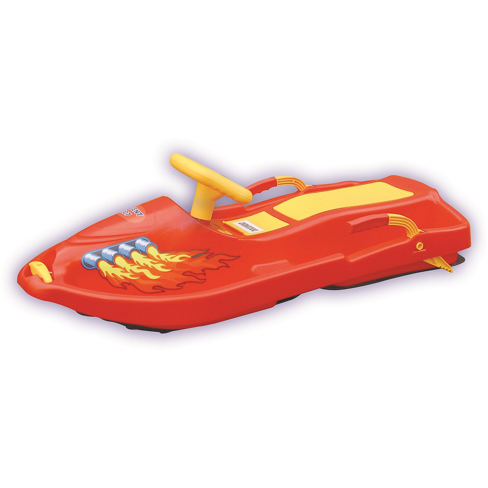 Санки Snow BoatСанки и снегокаты<br>Санки Snow Boat выполнены в виде яркого скутера. Модель изготовлена из высококачественного прочного пластика, имеет тормоз и буксирный шнур. Специальные выступы для ног позволяют ребенку лучше удерживать равновесие. Широкие полозья на которых располагаются санки связаны с рулем специальным рычагом, при повороте руля полозья меняют свое положение. В носовой части есть небольшое углубление, в которое складывает нейлоновый шнур, соединяющий снегокат и небольшую ручку. Прекрасный вариант для зимних забав! Игры и прогулки на свежем воздухе очень полезны для детей, они укрепляют иммунитет ребенка и, конечно, дарят хорошее настроение. <br><br>Дополнительная информация:<br><br>- Материал: пластик.<br>- Цвет: красный.<br>- Размер: 93x43x27 см.<br>- Количество посадочных мест: 2<br>- Рулевое управление. <br>- Тормоз.<br>- Буксирный шнур.<br>- Максимальная нагрузка: 50 кг.<br><br>Санки Snow Boat можно купить в нашем магазине.<br><br>Ширина мм: 930<br>Глубина мм: 430<br>Высота мм: 270<br>Вес г: 3200<br>Возраст от месяцев: 36<br>Возраст до месяцев: 96<br>Пол: Унисекс<br>Возраст: Детский<br>SKU: 4295757