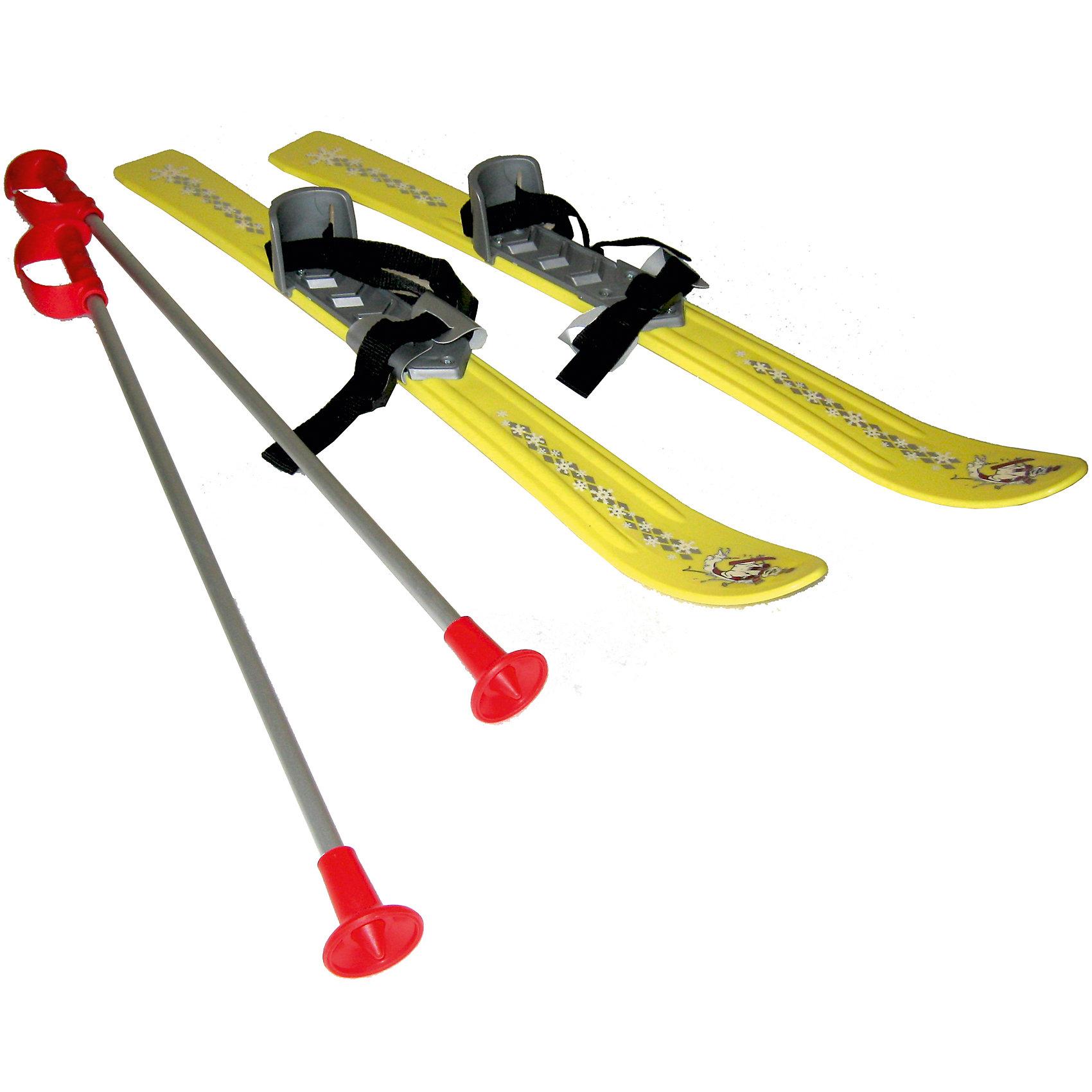 Лыжи Baby Ski 70Катание на лыжах - прекрасный вариант для активного отдыха зимой. Яркие лыжи вызовут у детей бурю положительных эмоций и помогут быстро научиться кататься. Модель оснащена удобными креплениями, которые подходят для любой обуви и антискользящей накладкой, помогающей сохранить неподвижность стопы во время катания. Лыжи украшены узором в виде снежинок. Удобные палки имеют пластиковые петли для рук и пластиковые, безопасные наконечники. Отличный вариант для зимних забав! Игры и прогулки на свежем воздухе очень полезны для детей, они укрепляют иммунитет ребенка и, конечно, дарят хорошее настроение. <br><br>Дополнительная информация:<br><br>- Материал: пластик.<br>- Размер (лыжи): 70 х 7,5 см. <br>- Длина палок: 65 см.<br>- Комплектация: палки, лыжи. <br>- Удобные крепления с антискользящей накладкой. <br>- Максимальная нагрузка: 50 кг.<br>- Цвет: желтый.<br><br>Лыжи Baby Ski 70 можно купить в нашем магазине.<br><br>Ширина мм: 720<br>Глубина мм: 700<br>Высота мм: 220<br>Вес г: 980<br>Возраст от месяцев: 36<br>Возраст до месяцев: 96<br>Пол: Унисекс<br>Возраст: Детский<br>SKU: 4295762