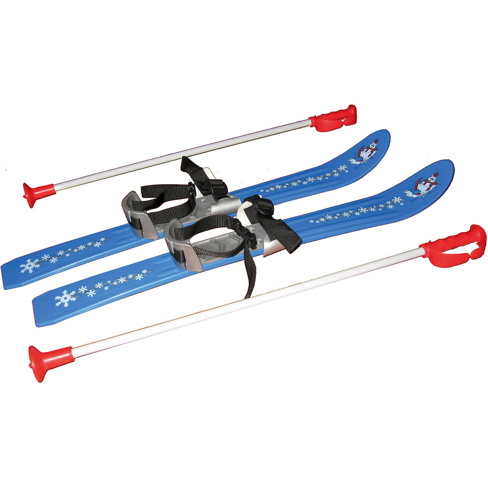 Лыжи Baby Ski 70Катание на лыжах - прекрасный вариант для активного отдыха зимой. Яркие лыжи вызовут у детей бурю положительных эмоций и помогут быстро научиться кататься. Модель оснащена удобными креплениями, которые подходят для любой обуви и антискользящей накладкой, помогающей сохранить неподвижность стопы во время катания. Лыжи украшены узором в виде снежинок. Удобные палки имеют пластиковые петли для рук и пластиковые, безопасные наконечники. Отличный вариант для зимних забав! Игры и прогулки на свежем воздухе очень полезны для детей, они укрепляют иммунитет ребенка и, конечно, дарят хорошее настроение. <br><br>Дополнительная информация:<br><br>- Материал: пластик.<br>- Размер (лыжи): 70 х 7,5 см. <br>- Длина палок: 65 см.<br>- Комплектация: палки, лыжи. <br>- Удобные крепления с антискользящей накладкой. <br>- Максимальная нагрузка: 50 кг.<br>- Цвет: голубой.<br><br>Лыжи Baby Ski 70 можно купить в нашем магазине.<br><br>Ширина мм: 720<br>Глубина мм: 700<br>Высота мм: 220<br>Вес г: 980<br>Возраст от месяцев: 36<br>Возраст до месяцев: 96<br>Пол: Унисекс<br>Возраст: Детский<br>SKU: 4295763