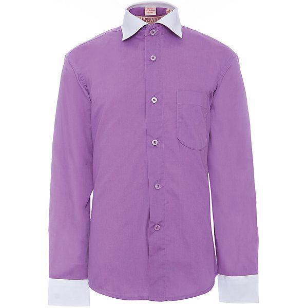 Рубашка для мальчика ImperatorОдежда<br>Характеристики товара:<br><br>• цвет: фиолетовый<br>• состав ткани: 55% хлопок, 45% полиэстер<br>• особенности: школьная, праздничная<br>• застежка: пуговицы<br>• рукава: длинные<br>• сезон: круглый год<br>• страна бренда: Российская Федерация<br>• страна изготовитель: Китай<br><br>Классическая сорочка для мальчика - отличный вариант комфортной и стильной школьной одежды.<br><br>Накладной карман, свободный покрой, дышащая ткань с преобладанием хлопка - красиво и удобно.<br><br>Рубашку для мальчика Imperator (Император) можно купить в нашем интернет-магазине.<br><br>Ширина мм: 174<br>Глубина мм: 10<br>Высота мм: 169<br>Вес г: 157<br>Цвет: лиловый<br>Возраст от месяцев: 156<br>Возраст до месяцев: 168<br>Пол: Мужской<br>Возраст: Детский<br>Размер: 158/164,140/146,122/128,128/134,134/140,146/152,152/158,164/170<br>SKU: 4295781