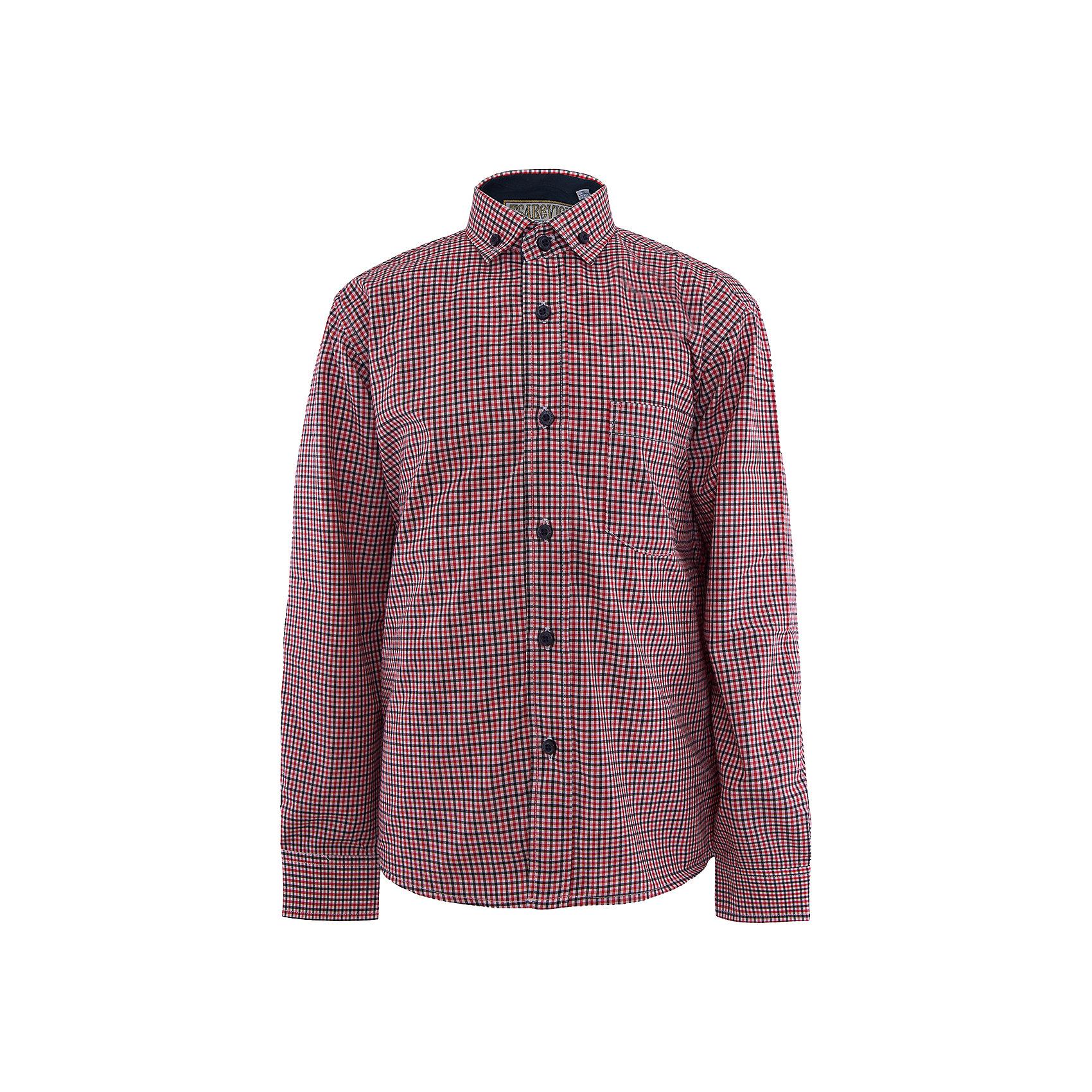 Рубашка для мальчика TsarevichРубашка для мальчика от российской марки Tsarevich<br><br>Стильная клетчатая рубашка с длинным рукавом хорошо сидит, не стесняет движения. Материал - гипоаллергенный, дышащий и приятный на ощупь.<br><br>Особенности модели:<br><br>- материал - легкий, с содержанием хлопка;<br>- цвет - в клетку, белый, красный, синий;<br>- карман на груди с пуговицей;<br>- рукав длинный;<br>- застежки-пуговицы;<br>- манжеты;<br>- отложной воротник;<br>- пуговицы на манжетах.<br><br>Дополнительная информация:<br><br>Состав: 80% хлопок, 20% полиэстер<br><br>Габариты:<br><br>длина рукава - 47 см;<br>длина по спинке - 56 см.<br><br>* соответствует размеру 30/128-134<br><br>Уход за изделием:<br><br>стирка в машине при температуре до 40°С,<br>не отбеливать,<br>гладить на средней температуре.<br><br>Рубашку для мальчика от российской марки Tsarevich (Царевич) можно купить в нашем магазине.<br><br>Ширина мм: 174<br>Глубина мм: 10<br>Высота мм: 169<br>Вес г: 157<br>Цвет: красный<br>Возраст от месяцев: 144<br>Возраст до месяцев: 156<br>Пол: Мужской<br>Возраст: Детский<br>Размер: 122/128,128/134,152/158,134/140,140/146,158/164,164/170,146/152<br>SKU: 4295881