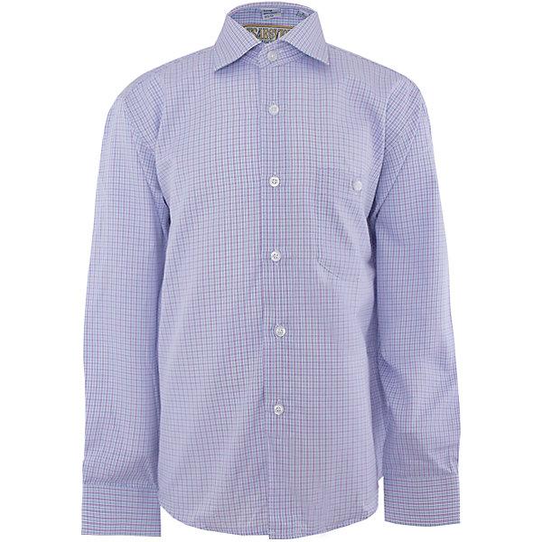 Рубашка для мальчика TsarevichОдежда<br>Рубашка для мальчика от российской марки Tsarevich<br><br>Модная и удобная рубашка с длинным рукавом хорошо сидит, не стесняет движения. Материал - гипоаллергенный, дышащий и приятный на ощупь.<br><br>Особенности модели:<br><br>- материал - легкий, с содержанием хлопка;<br>- цвет - мелкая голубая клетка;<br>- карман на груди с пуговицей;<br>- рукав длинный;<br>- застежки-пуговицы;<br>- манжеты;<br>- отложной воротник;<br>- пуговицы на манжетах.<br><br>Дополнительная информация:<br><br>Состав: 65% хлопок, 35% полиэстер<br><br>Габариты:<br><br>длина рукава - 47 см;<br>длина по спинке - 56 см.<br><br>* соответствует размеру 30/128-134<br><br>Уход за изделием:<br><br>стирка в машине при температуре до 40°С,<br>не отбеливать,<br>гладить на средней температуре.<br><br>Рубашку для мальчика от российской марки Tsarevich (Царевич) можно купить в нашем магазине.<br><br>Ширина мм: 174<br>Глубина мм: 10<br>Высота мм: 169<br>Вес г: 157<br>Цвет: лиловый<br>Возраст от месяцев: 156<br>Возраст до месяцев: 168<br>Пол: Мужской<br>Возраст: Детский<br>Размер: 158/164,134/140,122/128,128/134,140/146,146/152,152/158,164/170<br>SKU: 4295890
