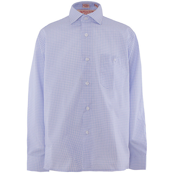 Рубашка для мальчика ImperatorБлузки и рубашки<br>Рубашка для мальчика от российской марки Imperator <br><br>Модная сиреневая рубашка отлично подойдет и для школьных будней и для праздничных мероприятий. Модель хорошо сидит, не стесняет движения. Материал - гипоаллергенный, дышащий и приятный на ощупь.<br><br>Особенности модели:<br><br>- материал - тонкий, с содержанием хлопка;<br>- цвет - сиреневый;<br>- карман на груди;<br>- длинный рукав;<br>- застежки-пуговицы;<br>- отложной воротник и манжеты;<br>- пуговицы на манжетах.<br><br>Дополнительная информация:<br><br>Состав: 65% хлопок, 35% полиэстер<br><br>Габариты:<br><br>длина рукава - 57 см;<br>длина по спинке - 68 см.<br><br>* соответствует размеру 35/158-164<br><br>Уход за изделием:<br><br>стирка в машине при температуре до 40°С,<br>не отбеливать,<br>гладить на средней температуре.<br><br>Рубашку для мальчика от российской марки Imperator (Император) можно купить в нашем магазине.<br><br>Ширина мм: 174<br>Глубина мм: 10<br>Высота мм: 169<br>Вес г: 157<br>Цвет: лиловый<br>Возраст от месяцев: 84<br>Возраст до месяцев: 96<br>Пол: Мужской<br>Возраст: Детский<br>Размер: 122/128,158/164,140/146,128/134,134/140,146/152,152/158,164/170<br>SKU: 4295956