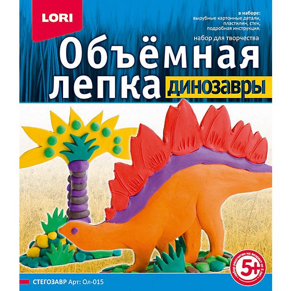 Набор для лепки Динозавры. Стегозавр, LORIНаборы для лепки<br>Набор для лепки Динозавры. Стегозавр, LORI (ЛОРИ) из серии «Динозавры» подарит увлекательное и полезное занятие  юным любителям лепки! Уникальная серия «Динозавры», позволяющая создать объемные сюжеты из жизни динозавров при помощи картона и пластилина. Картонные детали, входящие в набор, необходимо облепить пластилином и соединить их согласно инструкции –  у ребенка получится объемная фигурка стегозавра из рода растительноядных ящеров – пожалуй, самого узнаваемого динозавра благодаря его знаменитым костяным платинам на спине и шипам на хвосте. А используя другие наборы для лепки из данной серии, Ваш малыш сможет собрать свой Парк Юрского Периода!<br><br>Комплектация: вырубные элементы из картона, пластилин, стек, инструкция<br><br>Дополнительная информация:<br>-Развивает: цветовосприятие, мелкую моторику, внимание, образное мышление, усидчивость<br>-Размеры в упаковке: 23х20х4 см<br>-Вес в упаковке: 376 г <br>-Материалы: пластилин, картон, пластик<br><br>Набор для лепки Динозавры. Стегозавр, LORI (ЛОРИ) можно купить в нашем магазине.<br>Ширина мм: 230; Глубина мм: 200; Высота мм: 40; Вес г: 376; Возраст от месяцев: 60; Возраст до месяцев: 108; Пол: Унисекс; Возраст: Детский; SKU: 4296895;