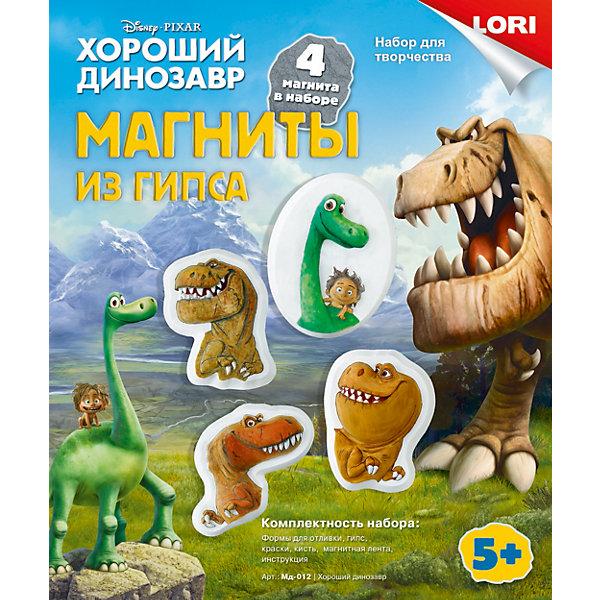 Магниты из гипса Хороший динозавр, DisneyНаборы из гипса<br>Набор для детского творчества Магниты из гипса Хороший динозавр, Disney (Дисней) позволит создать оригинальные магниты с изображением героев мультфильма «Хороший динозавр». В комплекте есть готовые формы для 4 магнитов, гипс и магнитная лента, с помощью которых делаются сами магнитики. После останется лишь раскрасить их с помощью кисти красками, также входящими в набор. Магниты, изготовленные своими руками, послужат украшением детской комнаты или станут прекрасным подарком для друзей и близких!<br><br>Комплектация: формы для отливки 4 магнитов, гипс, краски, кисть, магнитная лента, инструкция<br><br>Дополнительная информация:<br>-Серия: Хороший динозавр<br>-Развивает: мелкую моторику, аккуратность, творческие способности, внимательность, усидчивость<br>-Размеры в упаковке: 22х18,5х5 см<br>-Вес в упаковке: 495 г <br>-Материалы: пластик, гипс, краски, магнит<br><br>Магниты из гипса Хороший динозавр, Disney (Дисней) можно купить в нашем магазине.<br>Ширина мм: 220; Глубина мм: 185; Высота мм: 50; Вес г: 495; Возраст от месяцев: 60; Возраст до месяцев: 108; Пол: Унисекс; Возраст: Детский; SKU: 4296906;
