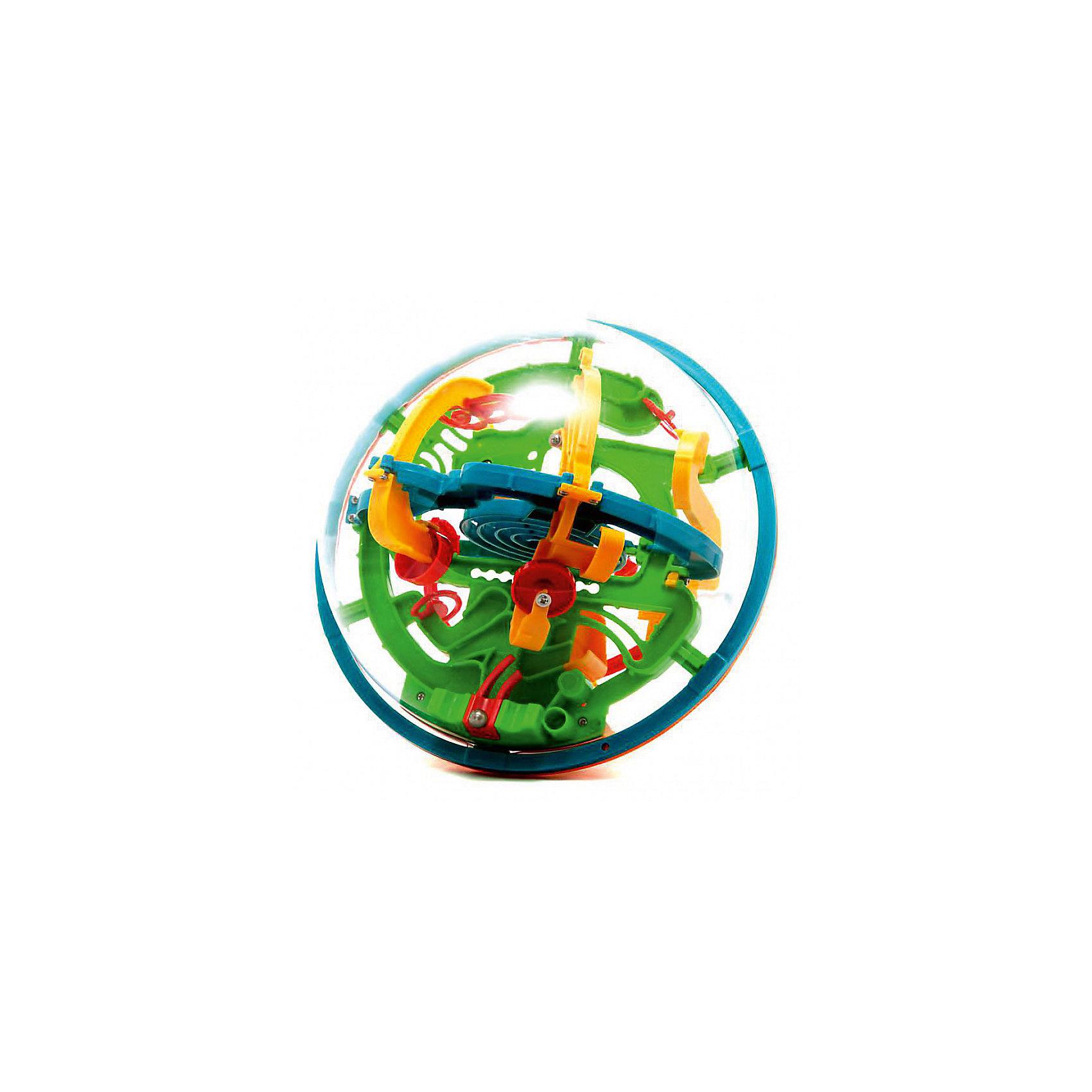 Лабиринтус, 138 шагов, 19 смИгры в дорогу<br>Это версия Original, средняя по сложности, самая известная и популярная модель. Диаметр сферы составляет 19см, внутренний лабиринт насчитывает 138 шагов. Шаги и препятствия сконструированы таким образом, что бы максимально заинтересовать и сделать игру увлекательной и интересной. Именно с этого шара началась вся линейка Лабиринтусов!<br><br>Конструктивно эта игрушка состоит из прозрачной сферы-купола, внутри которой проложен сложнейший лабиринт дорожек и находится металлический шарик. Цель игры: поворачивая руками большой шар нужно провести маленький шарик через захватывающие хитросплетения дорожек, от первой контрольной точки до последней. В отличии от привычных плоских лабиринтов, в этой игрушке развивается по-настоящему пространственное мышление и видение, ведь шарик постоянно перемещается из одной плоскости в другую, рискуя на каждом этапе упасть, вынуждая начинать заново.<br><br>Лабиринтус моментально захватывает воображение и втягивает в игру. Будьте уверены, если у вас в руках Лабиринтус 19см Original и поблизости есть другие люди, любой из них захочет попробовать и не отдаст игрушку пока не пройдет весь лабиринт! Яркие цвета, необычный вид и неизбежные.. поражения, конечно же сменяющиеся победами на всем протяжении игры от 1 до последней точки! Как жаль, что в мире мало игрушек, способных дарить хоты бы половину эмоций от игры с Перплексусом.<br><br>    Средний уровень сложности подходит для всей семьи.<br>    Больше 100 контрольных точек и 3 независимые точки входа (1, 26, 59).<br>    Оптимальный размер внешней сферы, удобный для детей и взрослых: диаметр шара 19 см, чуть меньше футбольного мяча.<br>    Общая протяженность трассы - более 7 метров.<br>    Прочный и упругий прозрачный пластик, гарантирующий долговечность игрушки даже в руках озорного ребенка!<br><br>Ширина мм: 185<br>Глубина мм: 205<br>Высота мм: 190<br>Вес г: 400<br>Возраст от месяцев: 60<br>Возраст до месяцев: 180<br>Пол: Унисекс<br>Возраст: Детс