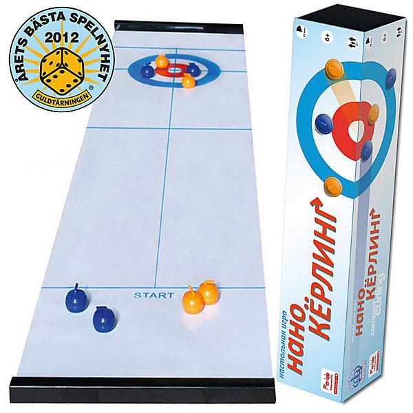 Игра Нано-Кёрлинг в тубусе, MartinexНастольные игры для всей семьи<br>Веселая настольная игра для 2 человек или 2 команд, созданная совместо с Канадской Ассоциацией Кёрлинга. Благодаря сотрудничеству с профессионалами, для домашней (и, конечно, офисной!) версии созданы специальные камни с тяжелыми металлическими шариками внутри, которые скользят/катятся по поверхности игрового поля почти что как настоящие камни на льду! Цель игры - расположить свои снаряды как можно ближе к центру мишени-дома.<br>Настольный Кёрлинг - это еще и отличное пособие для тренировки, объяснения и разработки стратегии настоящей игры.<br><br>    Размер игрового поля: 120х35см.<br>    В комплекте: 8 камней (4 желтых и 4 красных), игровое поле, Правила игры на русском языке (PDF 2Мб), мешочек для хранения камней.<br>    Продолжительность игры: 15 минут.<br>    Награда Настольная Игра Года 2012 в Швеции!<br><br>Ширина мм: 70<br>Глубина мм: 360<br>Высота мм: 70<br>Вес г: 500<br>Возраст от месяцев: 60<br>Возраст до месяцев: 1188<br>Пол: Унисекс<br>Возраст: Детский<br>SKU: 4297011