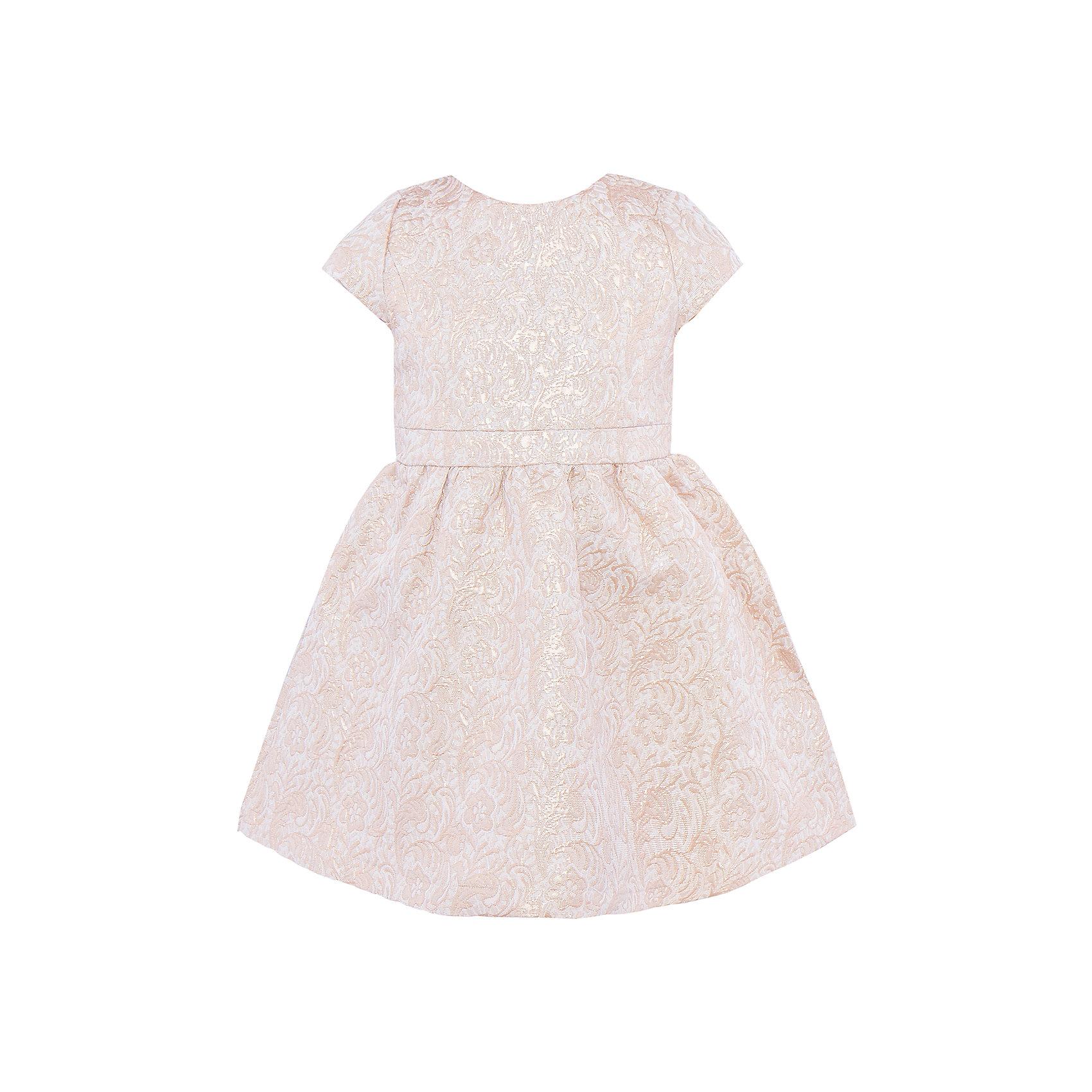 Нарядное платье Sweet BerryОдежда<br>Нарядное платье из жакардовой ткани. Застежка молния на спинке.<br>Состав:<br>Верх: 100% полиэстер, Подкладка: 100% хлопок<br><br>Ширина мм: 236<br>Глубина мм: 16<br>Высота мм: 184<br>Вес г: 177<br>Цвет: бежевый<br>Возраст от месяцев: 72<br>Возраст до месяцев: 84<br>Пол: Женский<br>Возраст: Детский<br>Размер: 122,104,98,128,116,110<br>SKU: 4299424