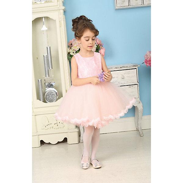 Нарядное платье для девочки Sweet BerryОдежда<br>Нарядное воздушное платье для маленьких принцесс. Верх платья покрыт нежным кружевом. Юбка выполнена в виде пачки из многослойной сетки, по низу юбка украшена кружевом нежно-персикового цвета. Платье застегивается на молнию на спинке. Сзади платье украшено красивым кружевным бантом. Бант съемный.<br>Состав:<br>верх- 100% полиэстер, подклад-100% хлопок<br>Ширина мм: 236; Глубина мм: 16; Высота мм: 184; Вес г: 177; Цвет: розовый; Возраст от месяцев: 36; Возраст до месяцев: 48; Пол: Женский; Возраст: Детский; Размер: 104,122,98,110,116,128; SKU: 4299480;
