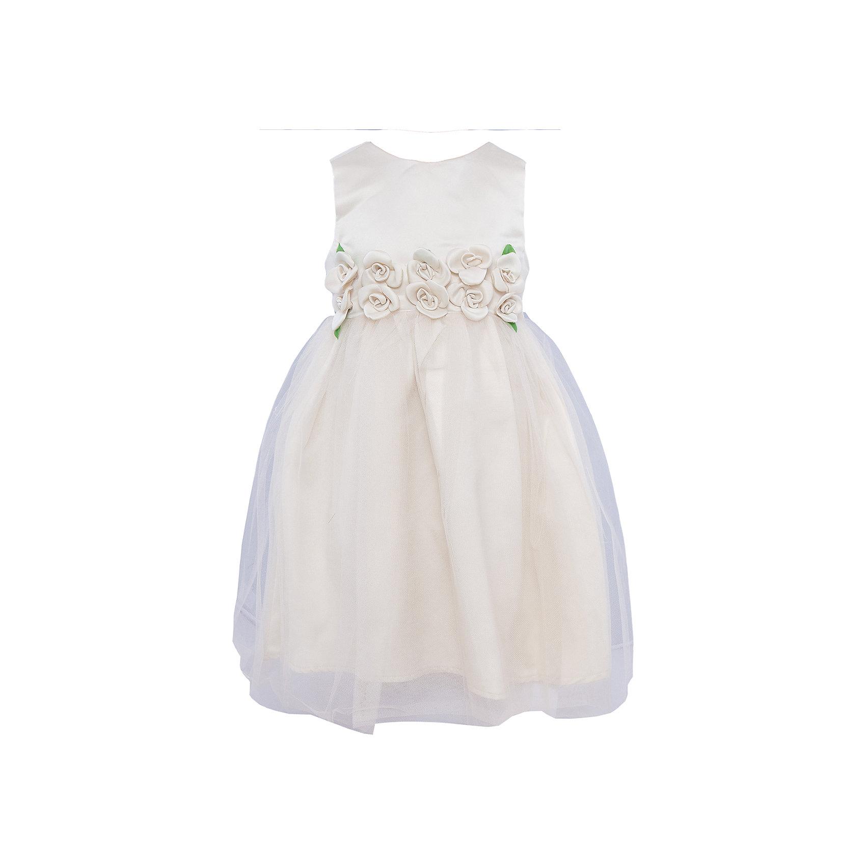 Платье Sweet BerryНарядное платье. Верх платье и нижняя юбка из атласа. Верхняя юбка собрана из сетки. Спереди на поясе декор из цветов, лепестки разбросаны по верхней юбки платья. Пояс завязывается на спинке в объемный бант.Платье застегивается на молнию на спинке.<br>Состав:<br>Верх: 100% полиэстер, Подкладка: 100% хлопок<br><br>Ширина мм: 236<br>Глубина мм: 16<br>Высота мм: 184<br>Вес г: 177<br>Цвет: бежевый<br>Возраст от месяцев: 24<br>Возраст до месяцев: 36<br>Пол: Женский<br>Возраст: Детский<br>Размер: 98,122,128,116,110,104<br>SKU: 4299487