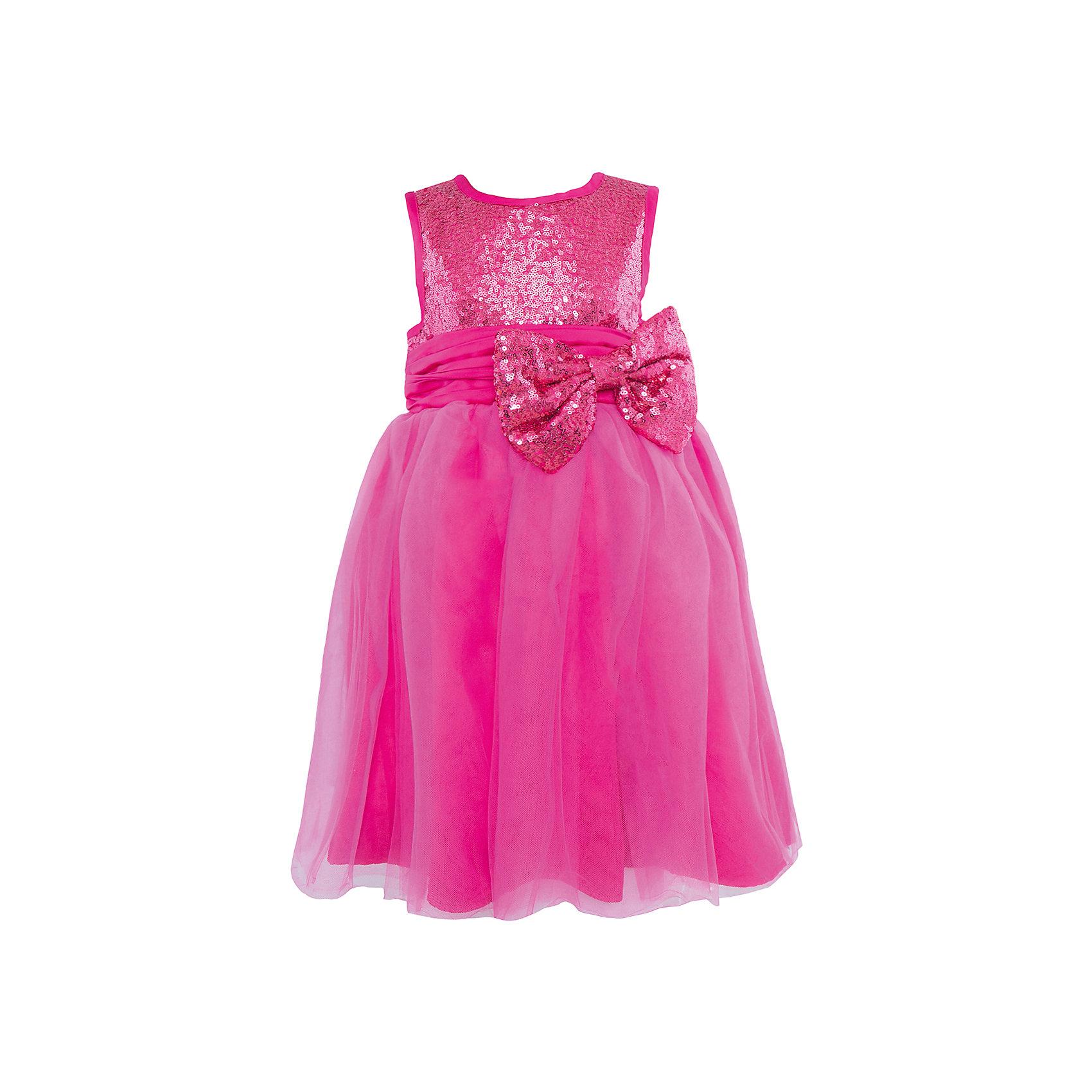 Нарядное платье Sweet BerryКрасивое нарядное платье из комбинированной ткани. Верх платья и декоративный бант на поясе выполнены из полотна усыпанного пайетками . Нижняя юбка и пояс из атласа. Верхняя юбка из многослойной сетки.<br>Состав:<br>Верх: 100% полиэстер, Подкладка: 100% хлопок<br><br>Ширина мм: 236<br>Глубина мм: 16<br>Высота мм: 184<br>Вес г: 177<br>Цвет: розовый<br>Возраст от месяцев: 48<br>Возраст до месяцев: 60<br>Пол: Женский<br>Возраст: Детский<br>Размер: 110,104,98,122,116,128<br>SKU: 4299515