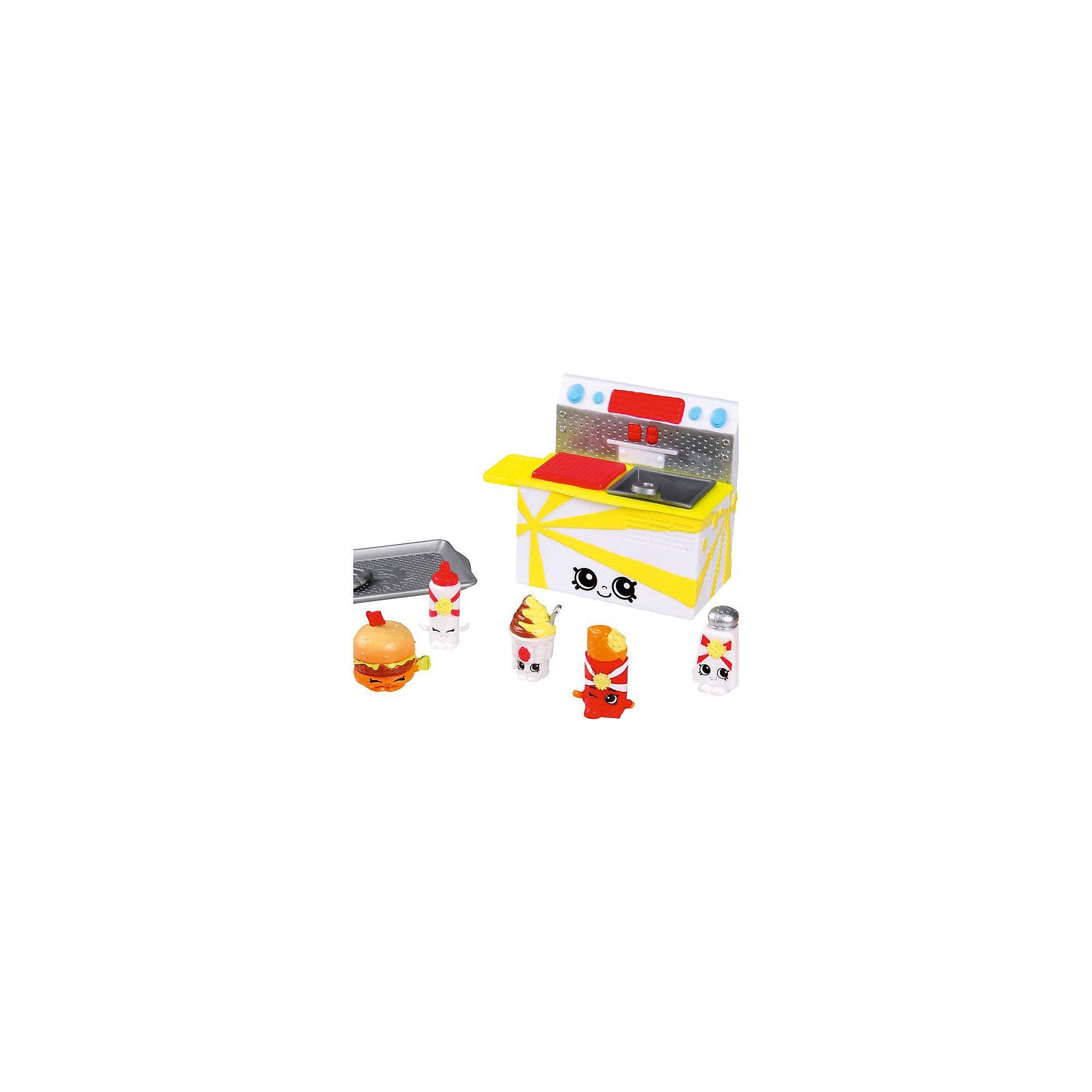 Moose Игровой набор Вкусная ярмарка: Фастфуд, Shopkins игровые наборы shopkins игровой набор веселая кухня