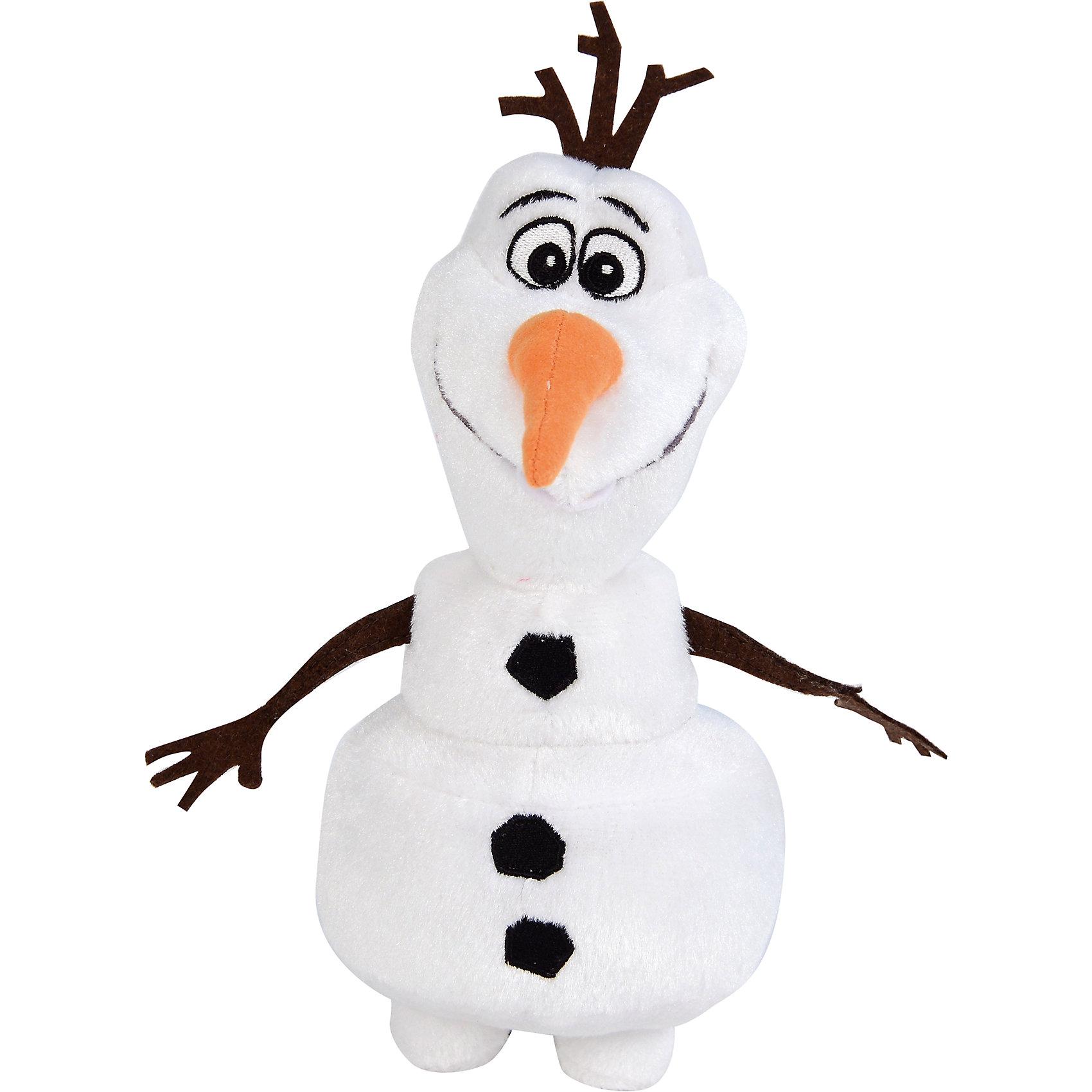 Игрушка Олаф 20 см, Холодное сердце, DisneyВеселый снеговичок Олаф - оригинальная мягкая игрушка, которая станет приятным сюрпризом для детей любого возраста. Снеговичок выполнен по мотивам популярного диснеевского мультфильма Холодное сердце ( Frozen) и внешне очень похож на своего экранного персонажа. Игрушка очень мягкая и приятная на ощупь, материал - высококачественный плюш. Малыш с удовольствием будет обнимать и тискать забавного снеговичка и даже брать с собой в кровать, игрушка изготовлена из качественных экологичных материалов и совершенно безопасна для детского здоровья. Способствует развитию фантазии и воображения, тренирует тактильное и визуальное восприятие. Допустима машинная стирка при температуре 30 градусов.<br><br>Дополнительная информация:<br><br>- Материал: плюш, синтетический наполнитель.<br>- Высота игрушки: 20 см.<br>- Размер упаковки: 10 х 18 х 9 см.<br>- Вес: 106 гр.<br><br>Игрушку Олаф, Холодное сердце, Disney, можно купить в нашем интернет-магазине.<br><br>Ширина мм: 100<br>Глубина мм: 180<br>Высота мм: 90<br>Вес г: 106<br>Возраст от месяцев: 36<br>Возраст до месяцев: 192<br>Пол: Унисекс<br>Возраст: Детский<br>SKU: 4302501