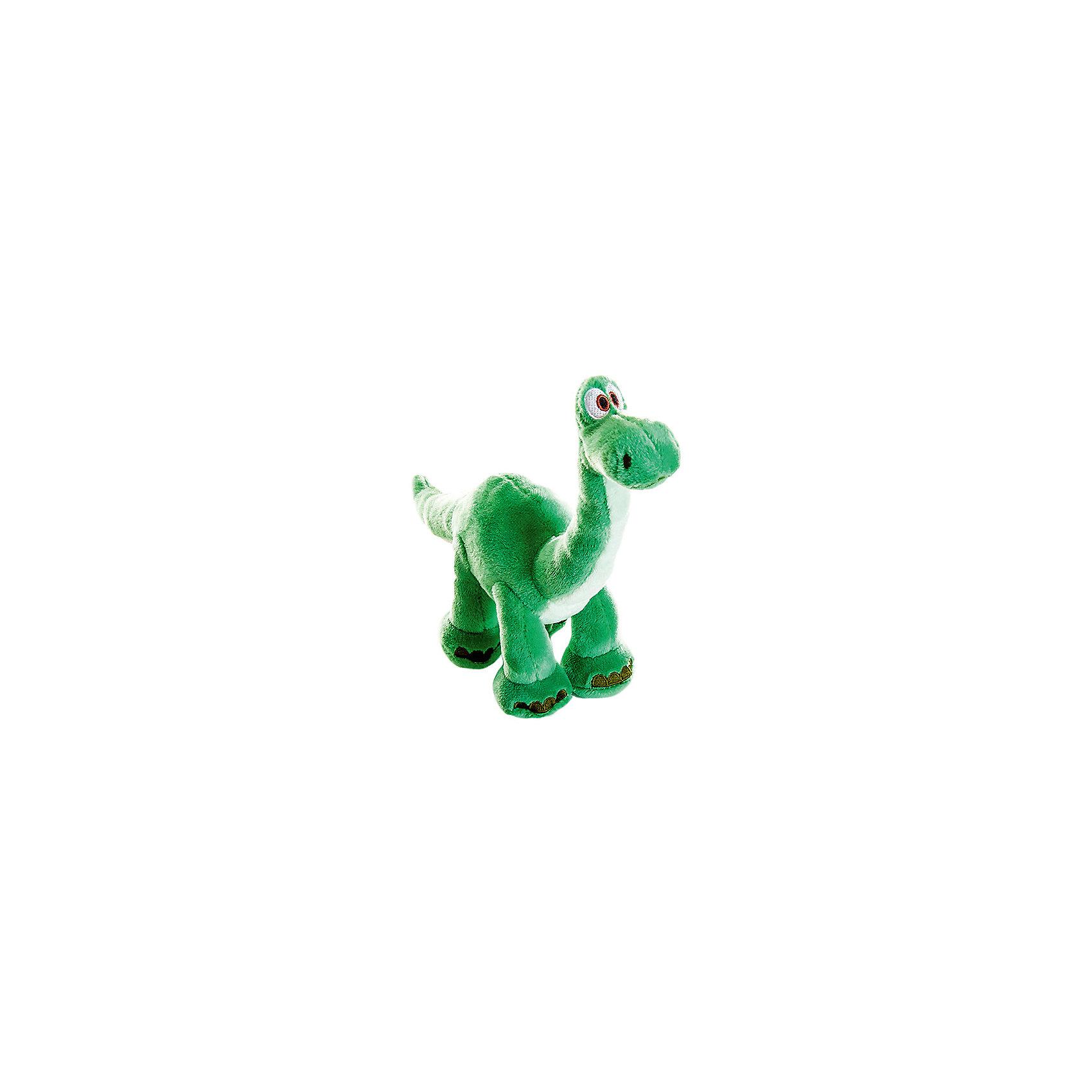 Мягкая игрушка Арло, 17 см, Хороший динозаврОчаровательный динозаврик Арло - оригинальная мягкая игрушка, которая станет приятным сюрпризом для детей любого возраста. Игрушка выполнена по мотивам нового диснеевского мультфильма Хороший динозавр (The Good Dinosaur) и внешне очень похожа на своего экранного персонажа. Это симпатичный динозаврик с зеленой шкуркой и милой мордочкой. Игрушка очень мягкая и приятная на ощупь, малыш с удовольствием будет обнимать и тискать забавного динозаврика и даже брать его с собой в кровать. Игрушка изготовлена из качественных экологичных материалов и совершенно безопасна для детского здоровья. Способствует развитию фантазии и воображения, тренирует тактильное и визуальное восприятие.<br><br>Дополнительная информация:<br><br>- Материал: текстиль, синтепон.<br>- Высота игрушки: 17 см.<br>- Размер упаковки: 7 х 22 х 9 см.<br>- Вес: 90 гр.<br><br>Мягкую игрушку Арло, Хороший динозавр, можно купить в нашем интернет-магазине.<br><br>Ширина мм: 70<br>Глубина мм: 220<br>Высота мм: 90<br>Вес г: 7<br>Возраст от месяцев: 36<br>Возраст до месяцев: 192<br>Пол: Унисекс<br>Возраст: Детский<br>SKU: 4302502