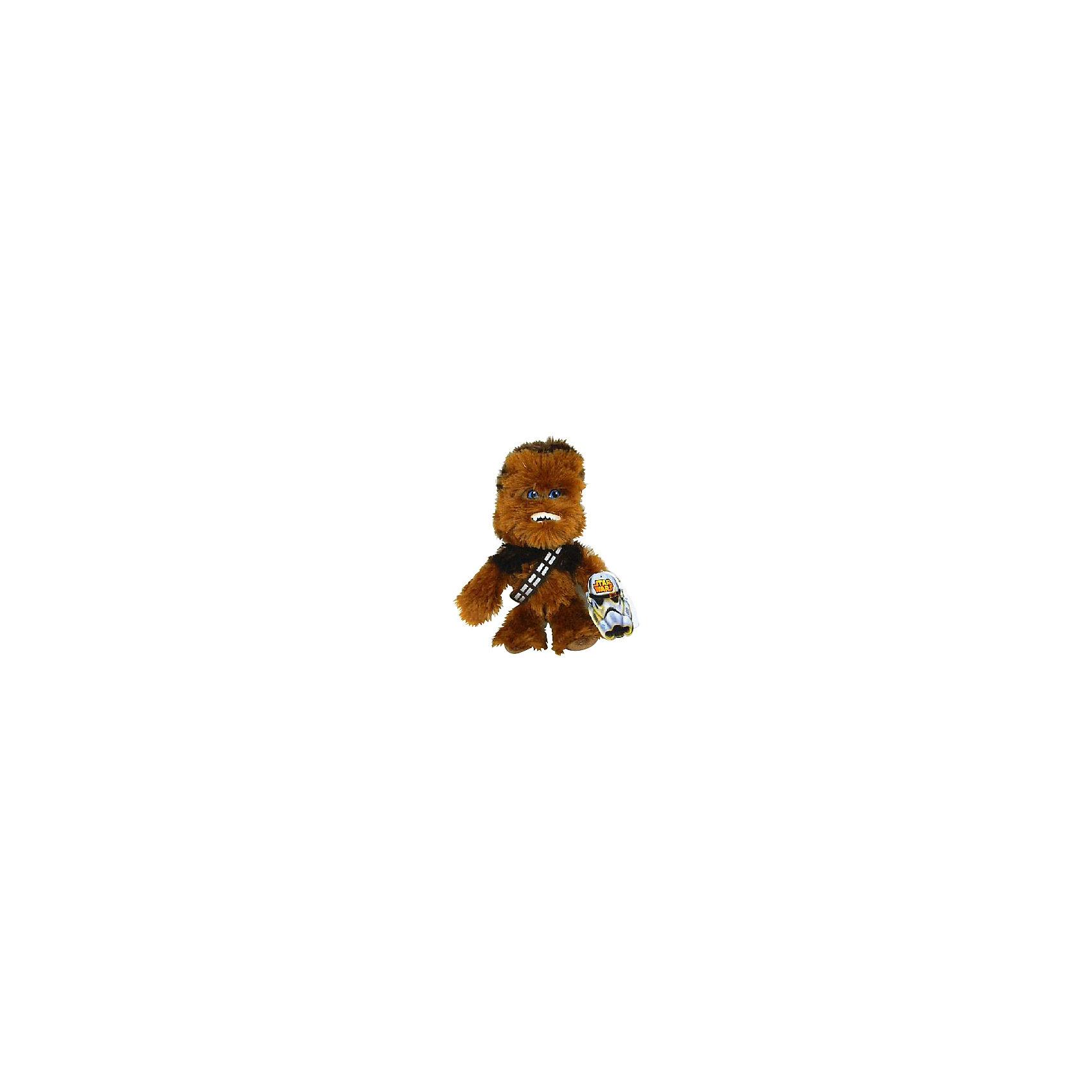 Мягкая игрушка Чубакка, 18 см, Звездные войныЛюбимые герои<br>Чубакка, Звездные войны  - оригинальная мягкая игрушка, которая станет приятным сюрпризом для детей любого возраста. Игрушка изображает популярного персонажа Чубакку из знаменитой киноэпопеи Звездные войны (Star Wars). Забавный волосатый гигант из народа вуки прекрасный пилот и механик, его туловище полностью покрыто шерстью, видны только его глаза. Фигурка Чубакки очень мягкая и приятная на ощупь, с хорошо прошитыми деталями и разным цветом волос. Изготовлена из качественных экологичных материалов и совершенно безопасна для детского здоровья. <br><br>Дополнительная информация:<br><br>- Материал: плюш, синтепон.<br>- Высота игрушки: 18 см.<br>- Размер упаковки: 8 х 12 х 7 см.<br>- Вес: 100 гр.<br><br>Мягкую игрушку Чубакка, Звездные войны, можно купить в нашем интернет-магазине.<br><br>Ширина мм: 80<br>Глубина мм: 120<br>Высота мм: 70<br>Вес г: 70<br>Возраст от месяцев: 36<br>Возраст до месяцев: 1188<br>Пол: Мужской<br>Возраст: Детский<br>SKU: 4302510