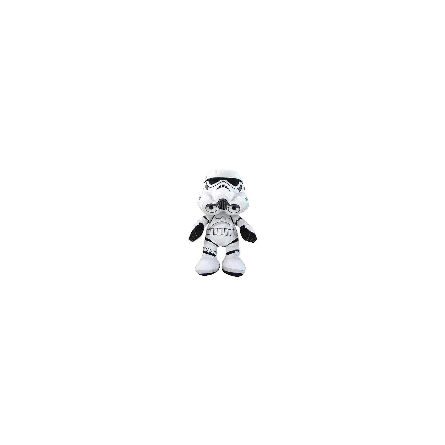 Мягкая игрушка Штурмовик, 18 см, Звездные войныЗабавный плюшевый Штурмовик, Звездные войны  - оригинальная мягкая игрушка, которая станет приятным сюрпризом для детей любого возраста. Игрушка изображает штурмовика элитных войск Галактической Империи из знаменитой киноэпопеи Звездные войны (Star Wars), но выполнена в мультипликационном стиле, что делает ее более забавной и совсем не страшной. Фигурка Штурмовика очень мягкая и приятная на ощупь, все детали хорошо прошиты. Изготовлена из качественных экологичных материалов и совершенно безопасна для детского здоровья. <br><br>Дополнительная информация:<br><br>- Материал: плюш, синтепон.<br>- Высота игрушки: 18 см.<br>- Размер упаковки: 9 х 13 х 10 см.<br>- Вес: 100 гр.<br><br>Мягкую игрушку Штурмовик, Звездные войны, можно купить в нашем интернет-магазине.<br><br>Ширина мм: 90<br>Глубина мм: 130<br>Высота мм: 100<br>Вес г: 80<br>Возраст от месяцев: 36<br>Возраст до месяцев: 1188<br>Пол: Мужской<br>Возраст: Детский<br>SKU: 4302512